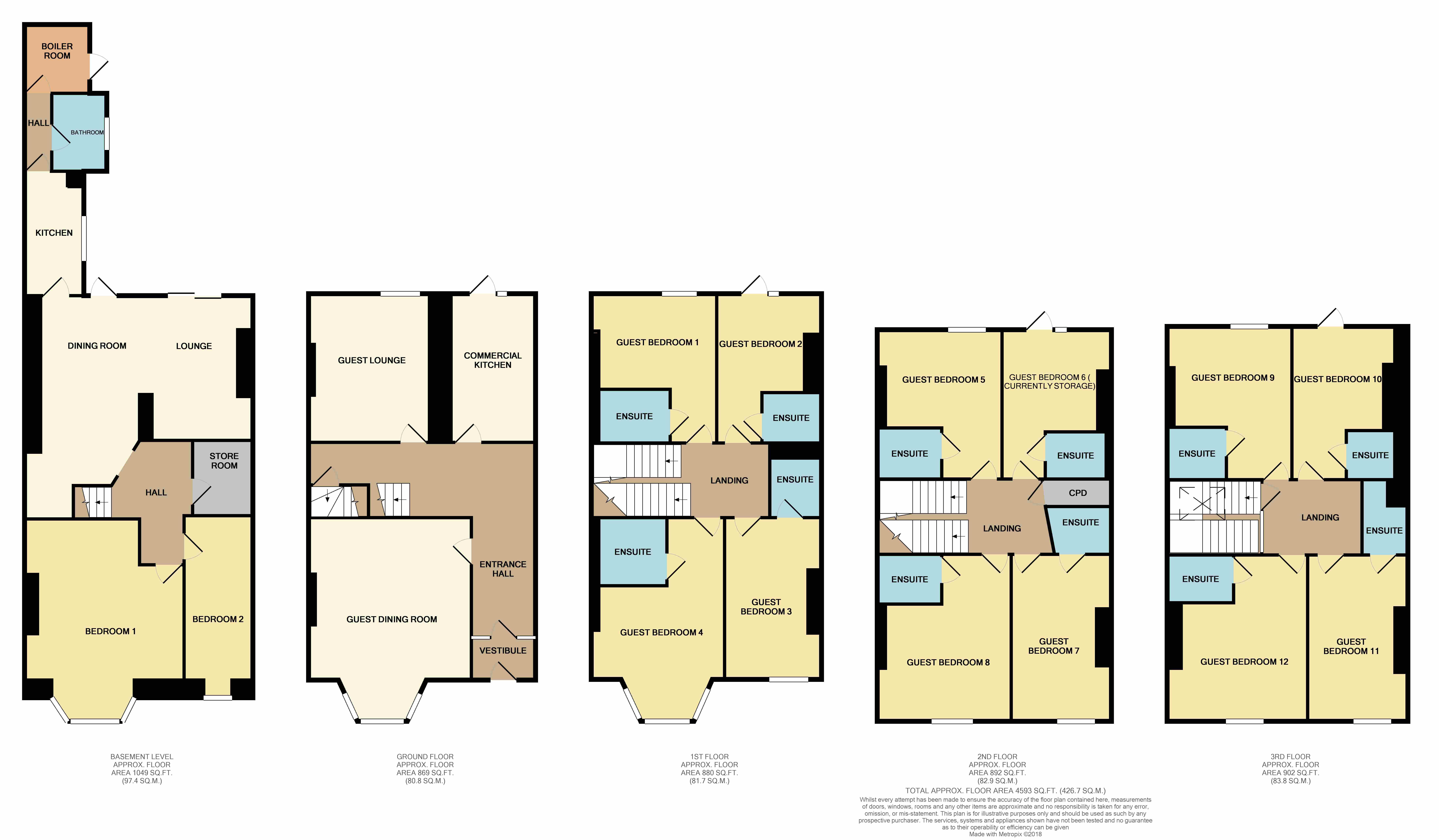 Mostyn Crescent, Llandudno, Conwy floorplan