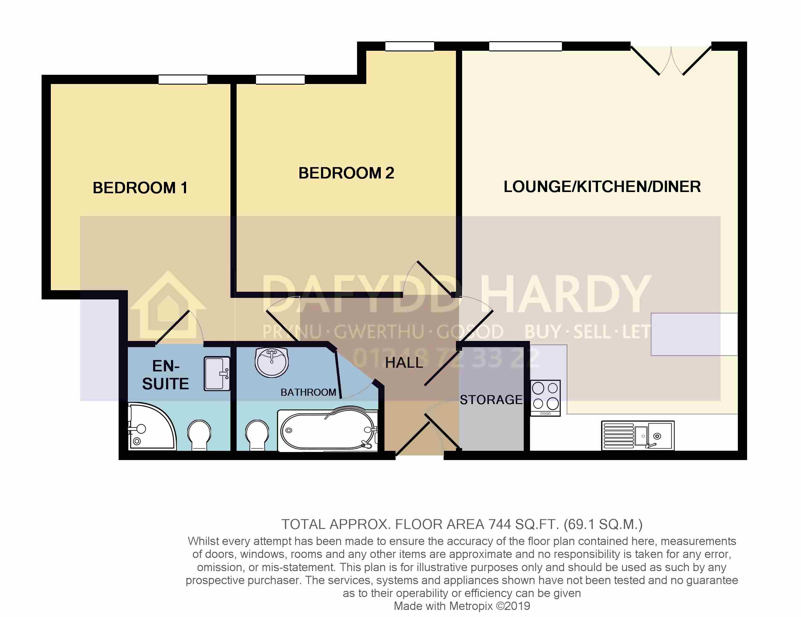 Bryn Y Bia Heights, Bryn Y Bia Road, Craigside floorplan
