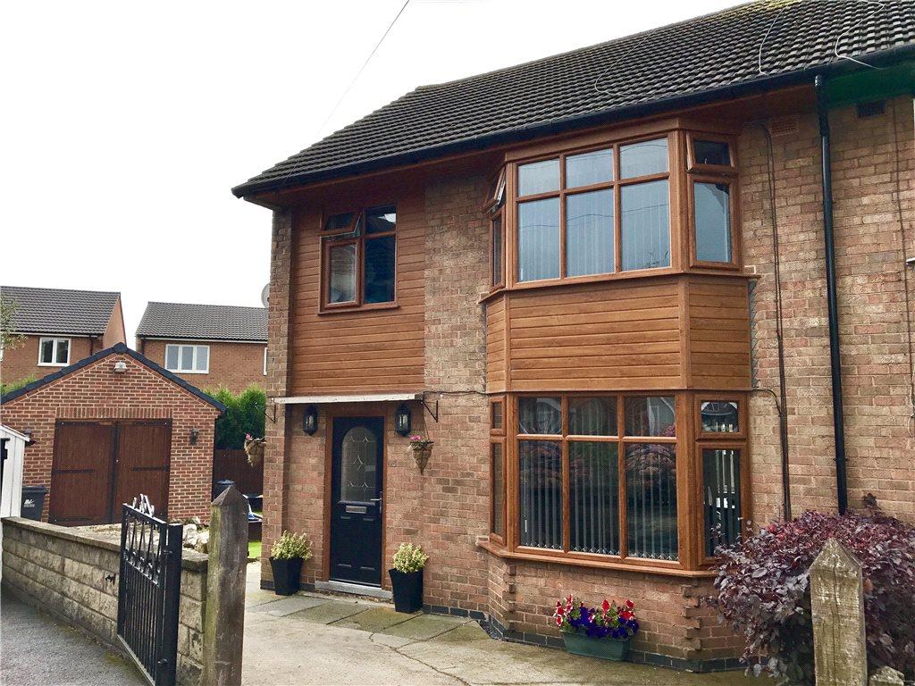3 Bedrooms Semi Detached House for sale in The Croft, Leabrooks, Alfreton, Derbyshire, DE55