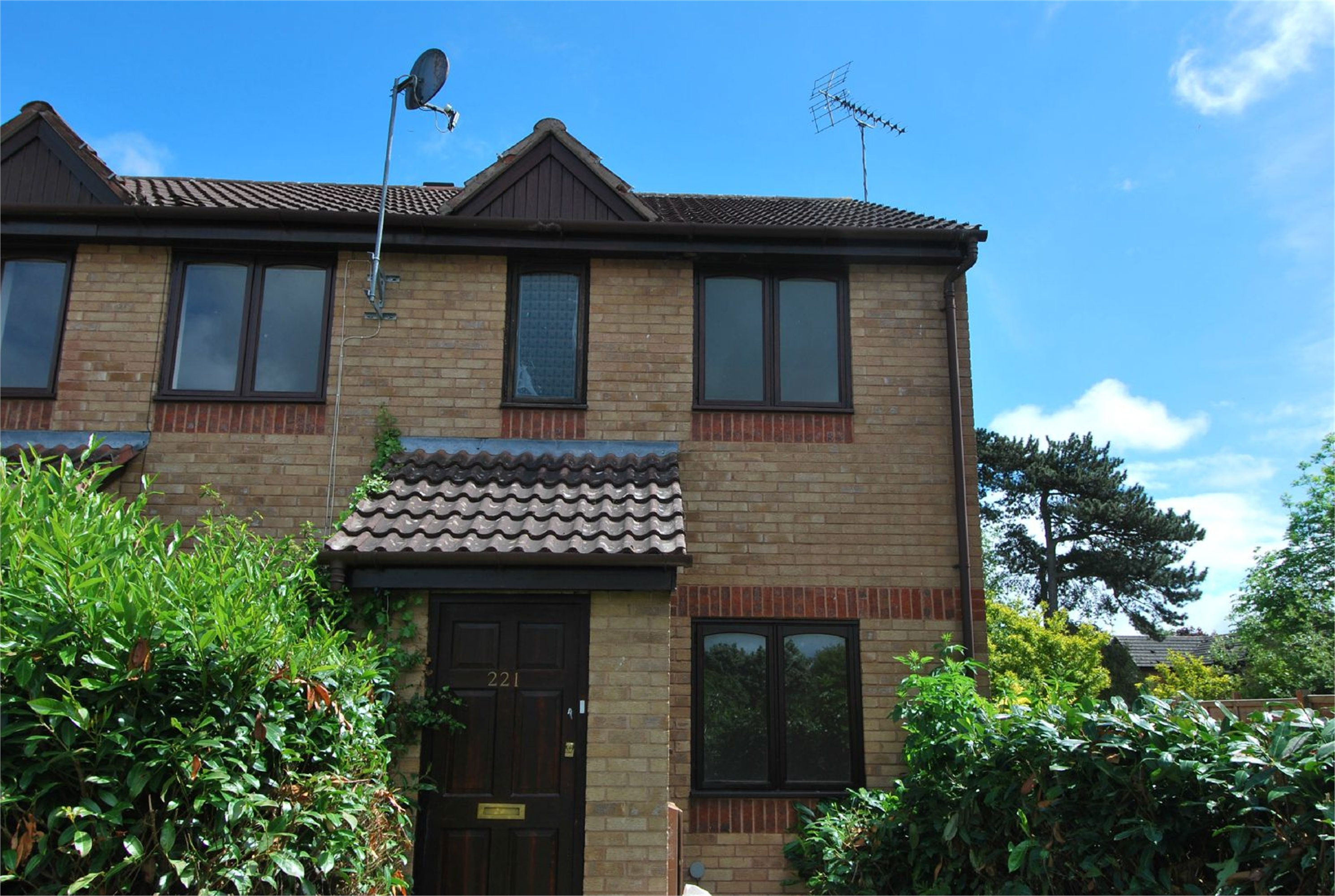 2 Bedrooms End Of Terrace House for sale in 221 The Mallards, Leominster, Herefordshire, HR6