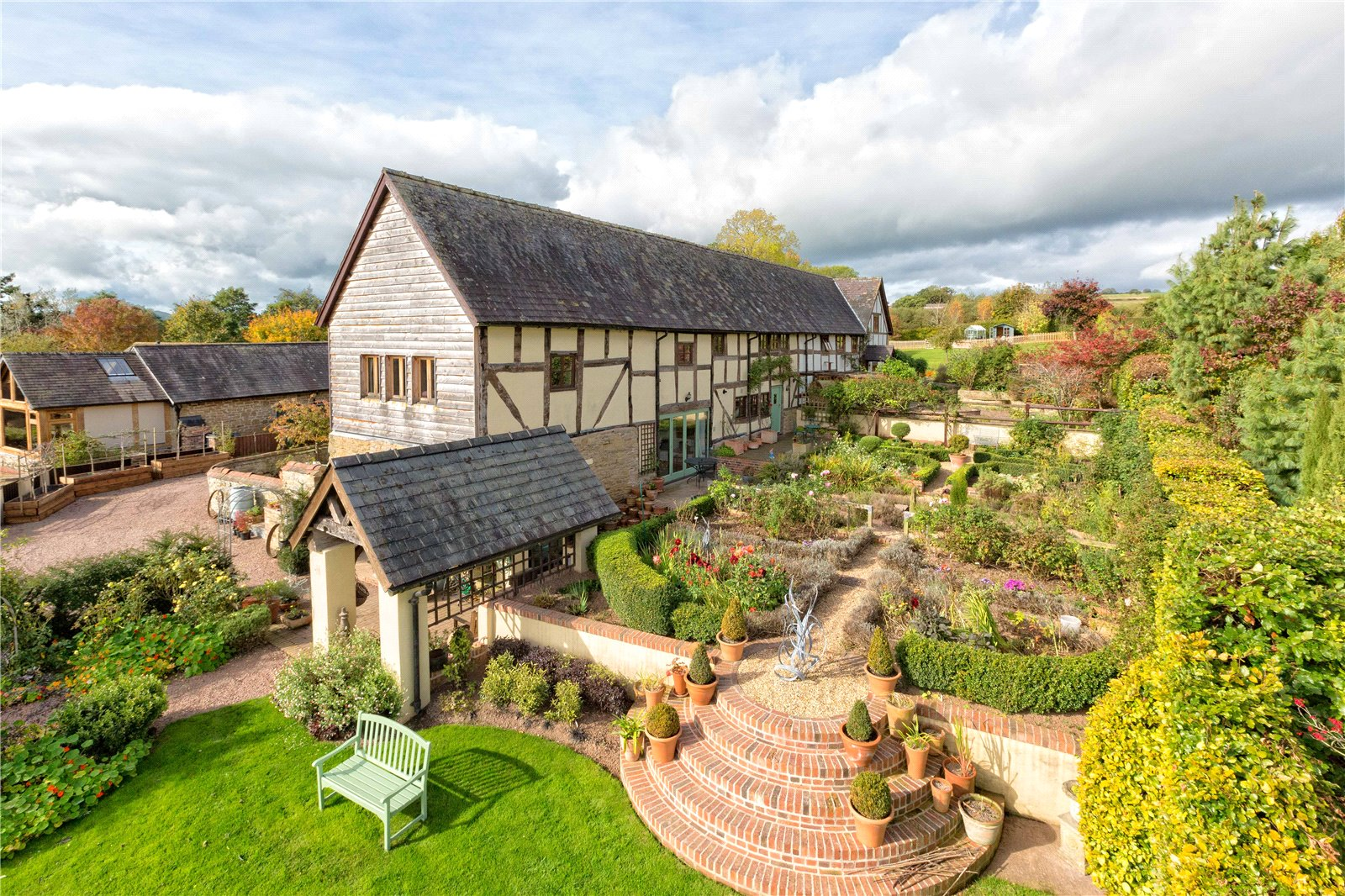 4 Bedrooms Barn Conversion Character Property for sale in The Oak House, Elsich Court, Near Ludlow, Shropshire, SY8