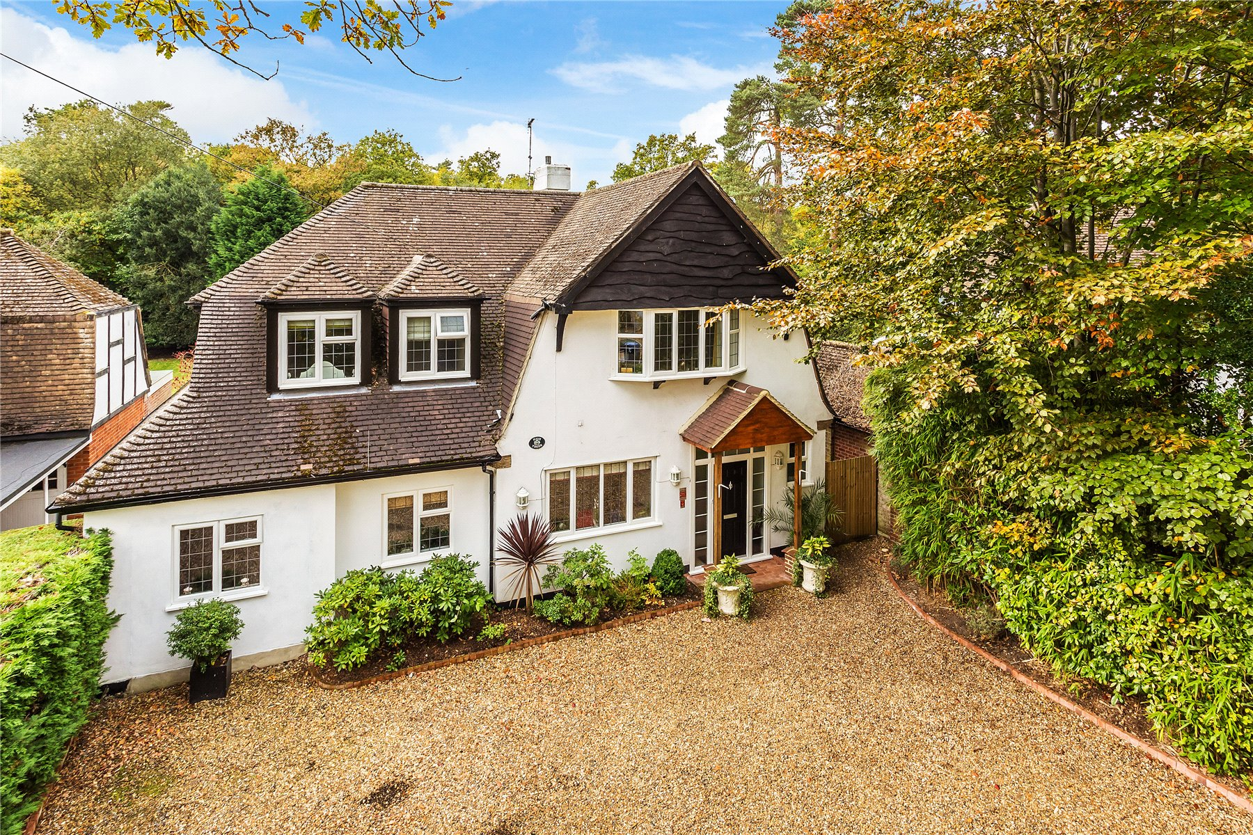 4 Bedrooms Detached House for sale in The Riding, Woodham, Woking, Surrey, GU21