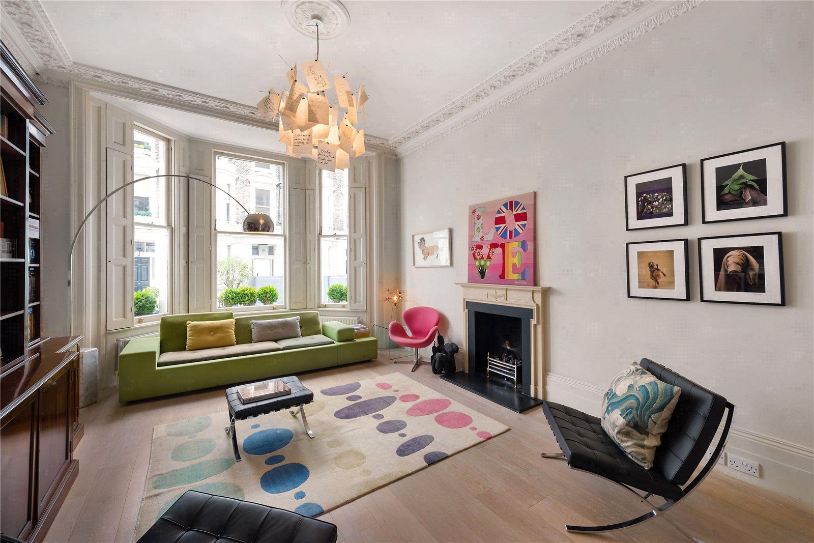 Apartamento por un Venta en Stafford Terrace, Kensington, London, W8 Kensington, London, Inglaterra