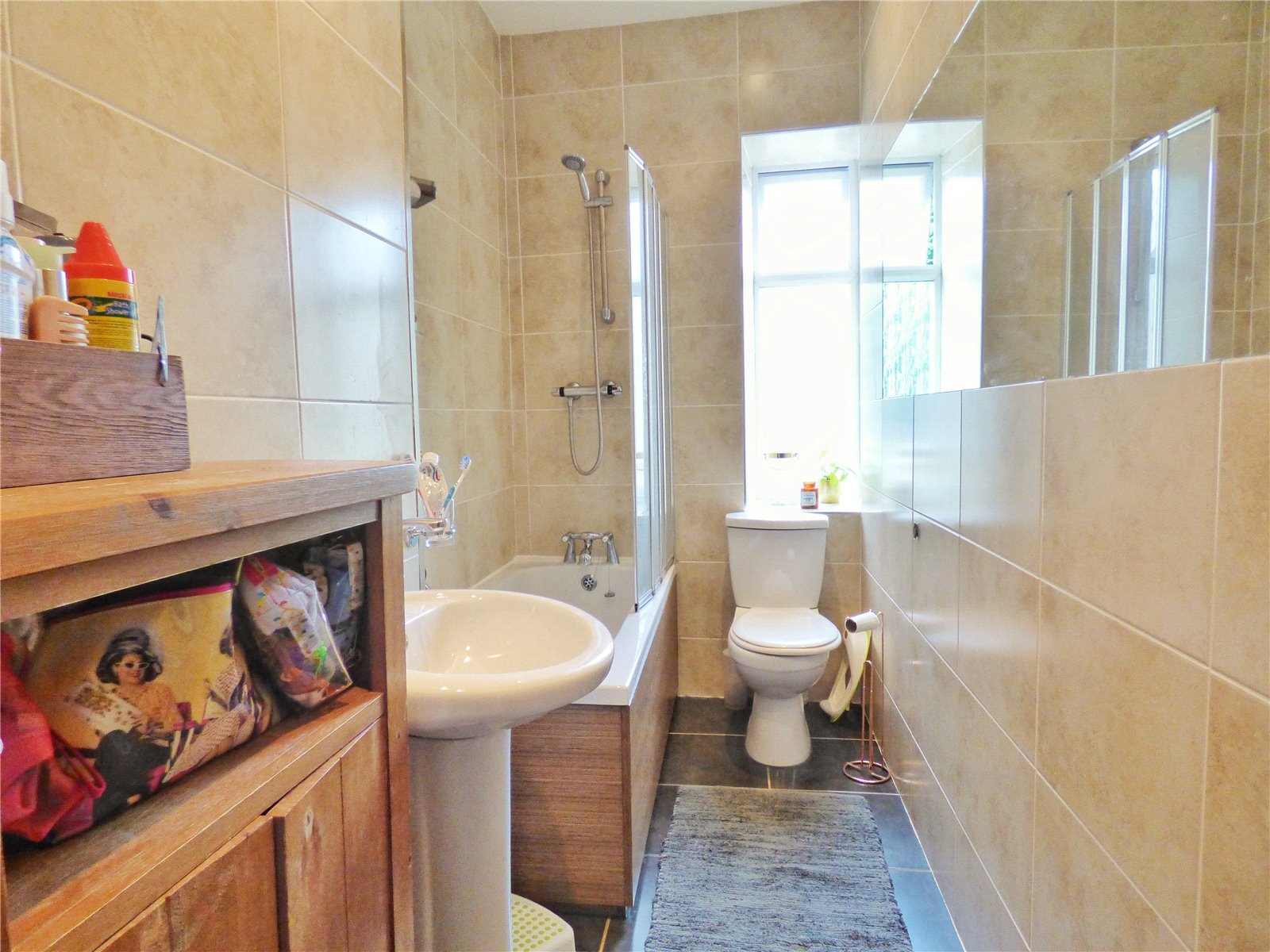 Tiled Bathroom: