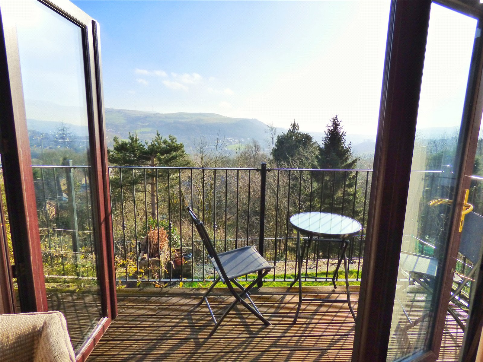 Rear Balcony: