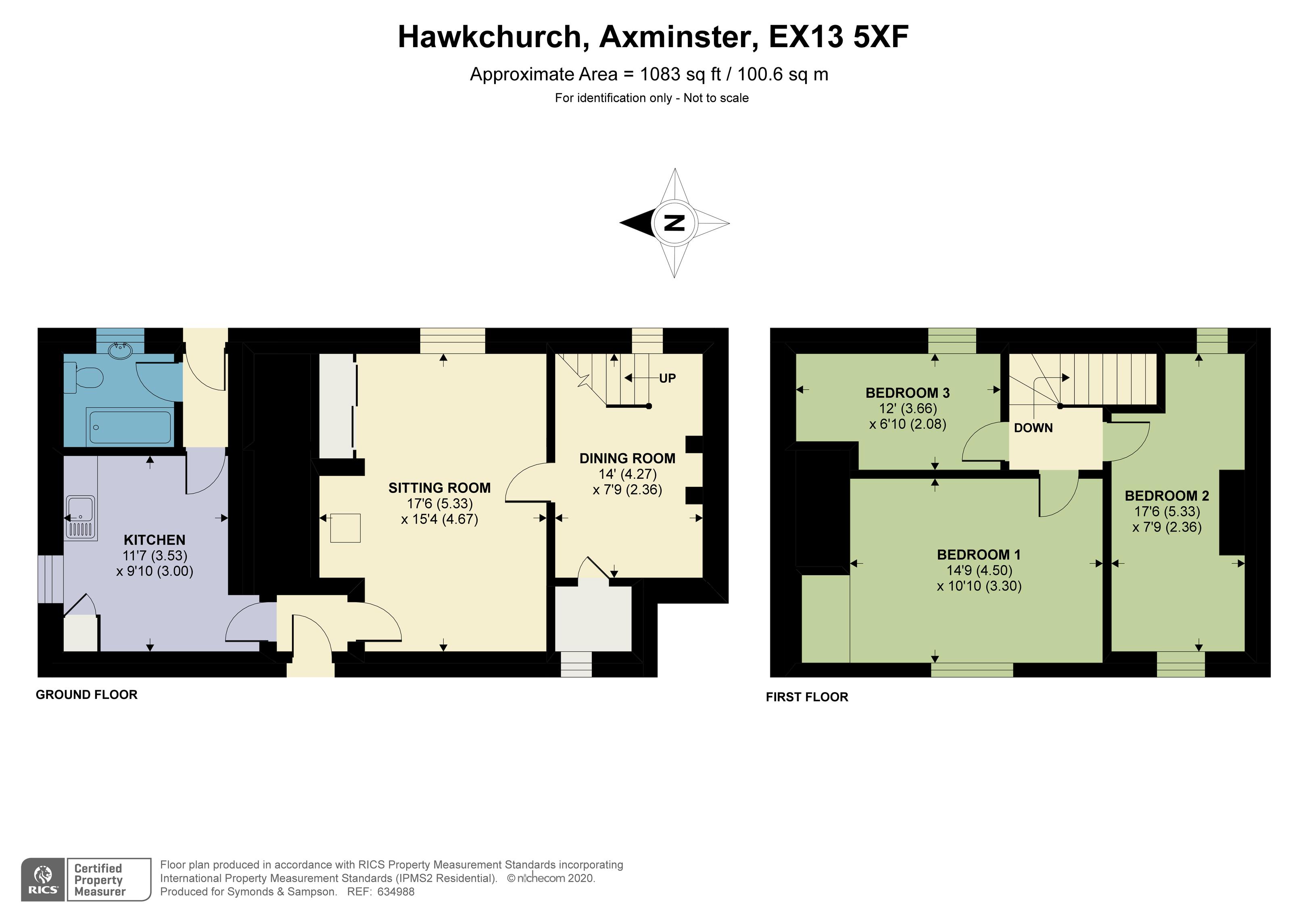 Floorplan - Courshay Farm Cottages, Hawkchurch, Axminster, Devon, EX13 5XF