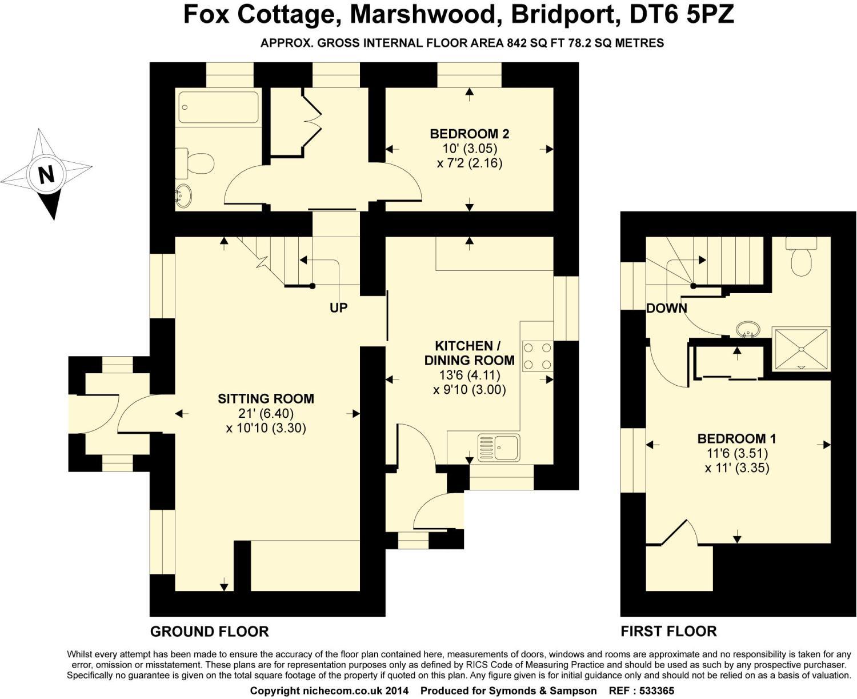 Floorplan - Marshwood, Bridport, DT6 5PZ