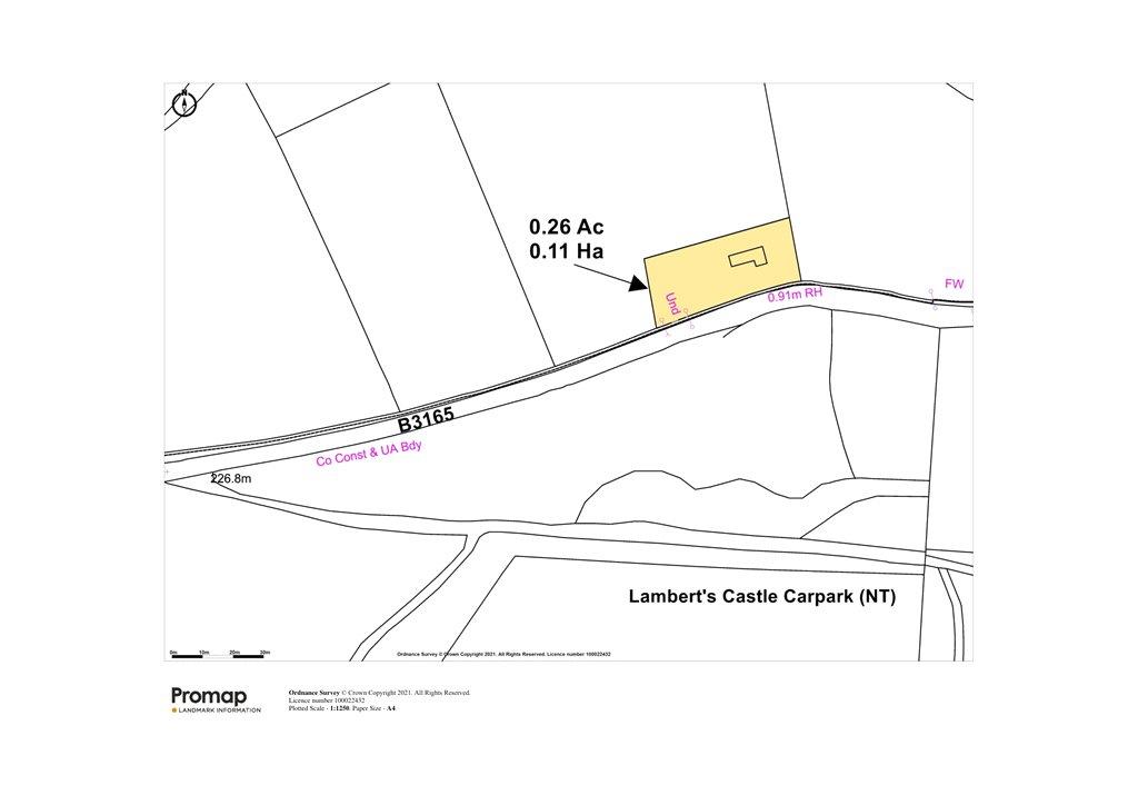 Siteplan - Hawkchurch, Axminster, Devon, EX13 5XL