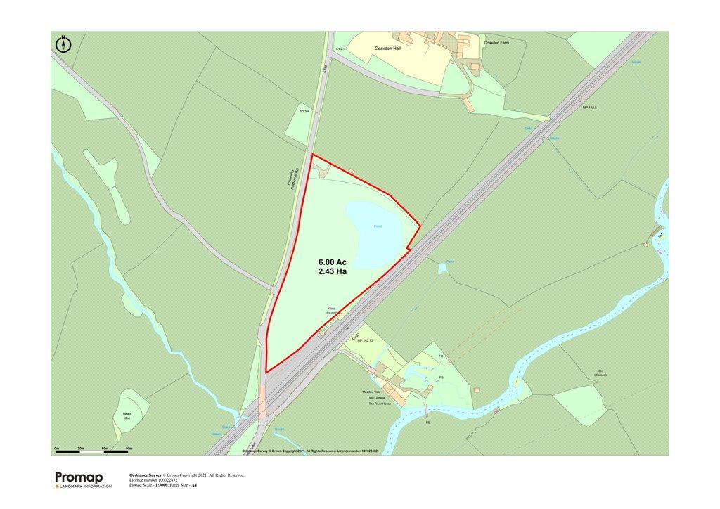 Siteplan - Coaxdon, Axminster, Devon, EX13 7LP