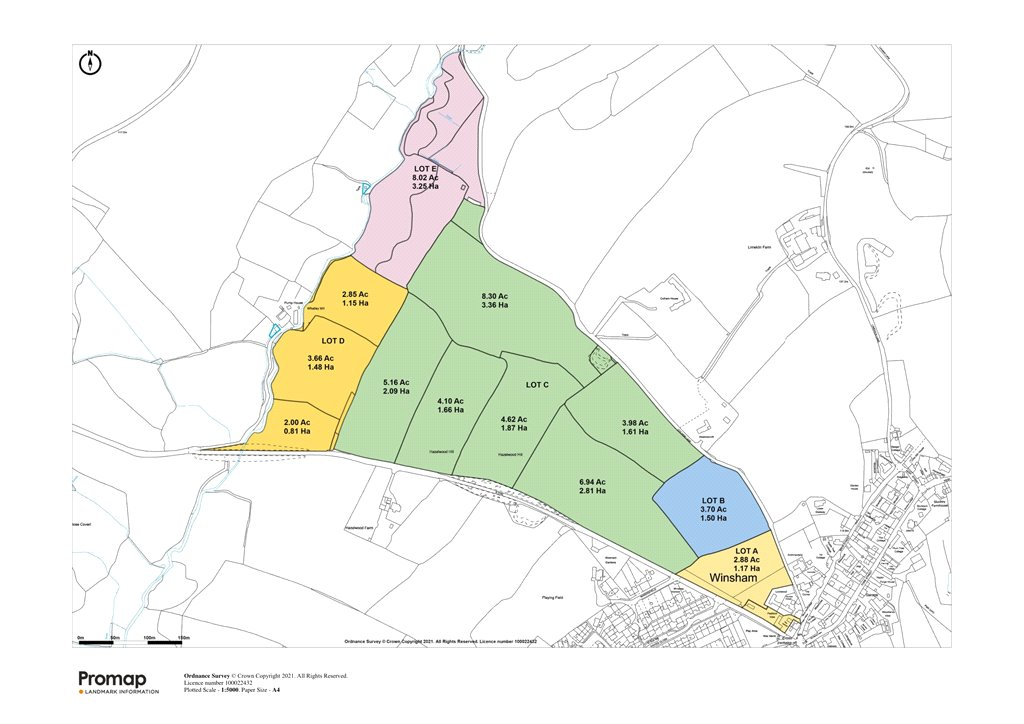 Siteplan - Colham Lane, Winsham, Chard, TA20 4ED