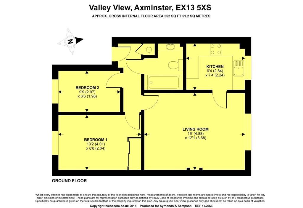 Floorplan - Valley View, Axminster, Devon, EX13 5XS