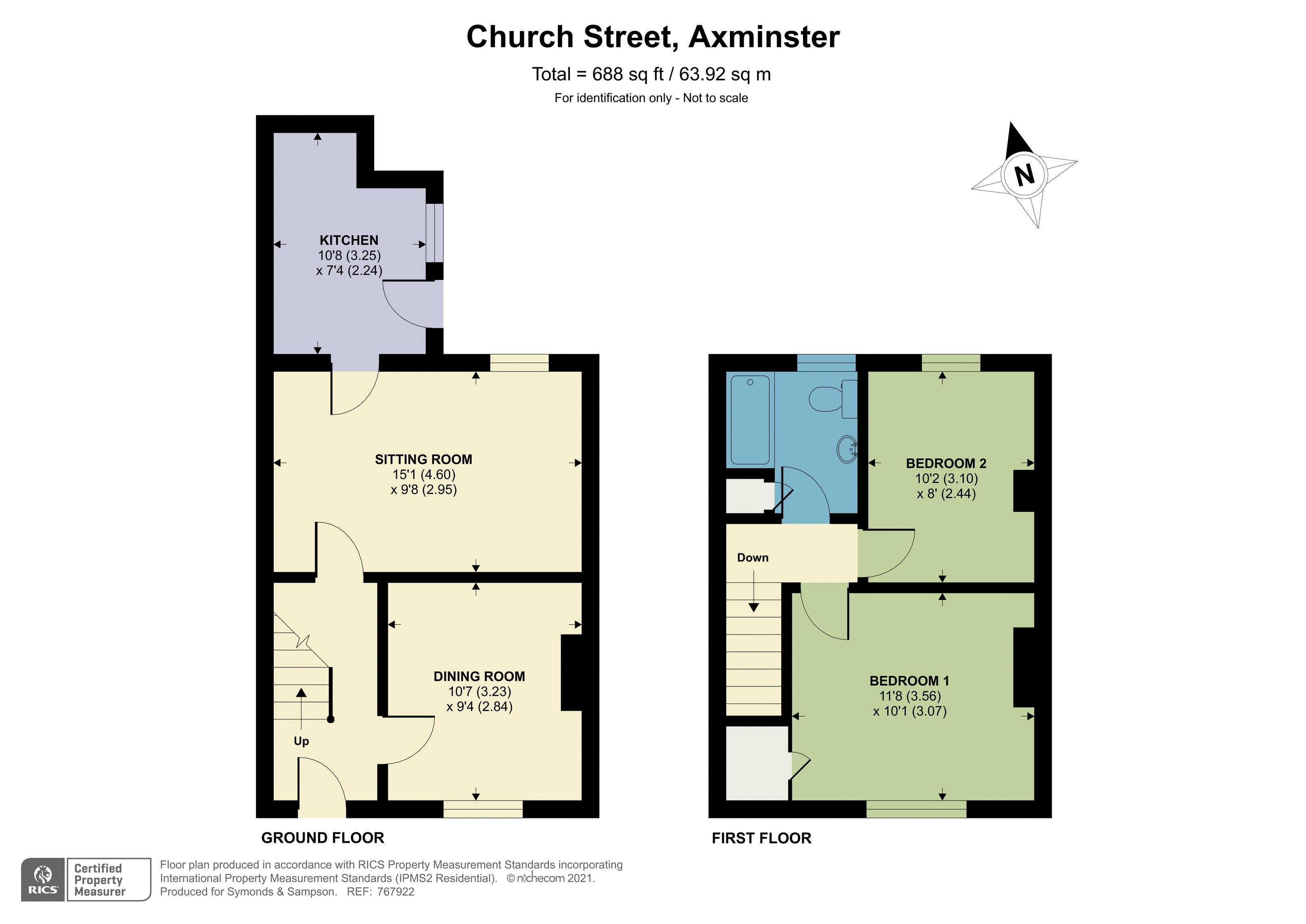 Floorplan - Church Street, Axminster, EX13 5AQ