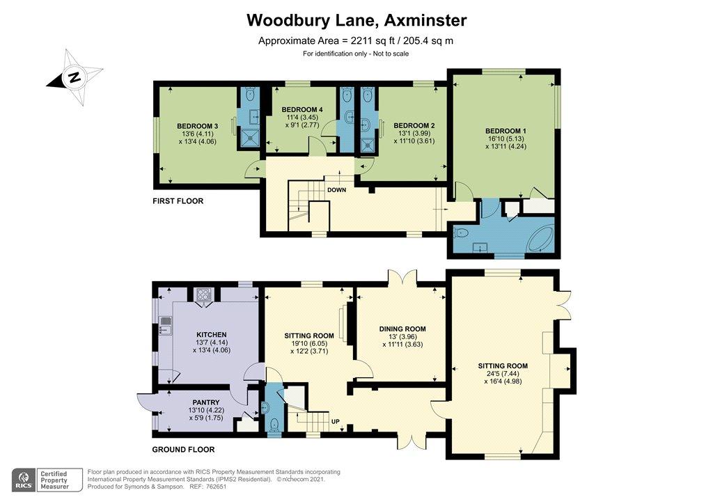 Floorplan - Woodbury Lane, Axminster, EX13 5TL