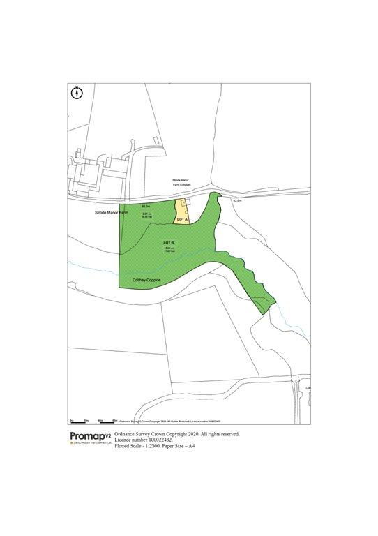 Siteplan - Strode Manor Farm Cottages, Netherbury, Bridport, Dorset, DT6 5NG