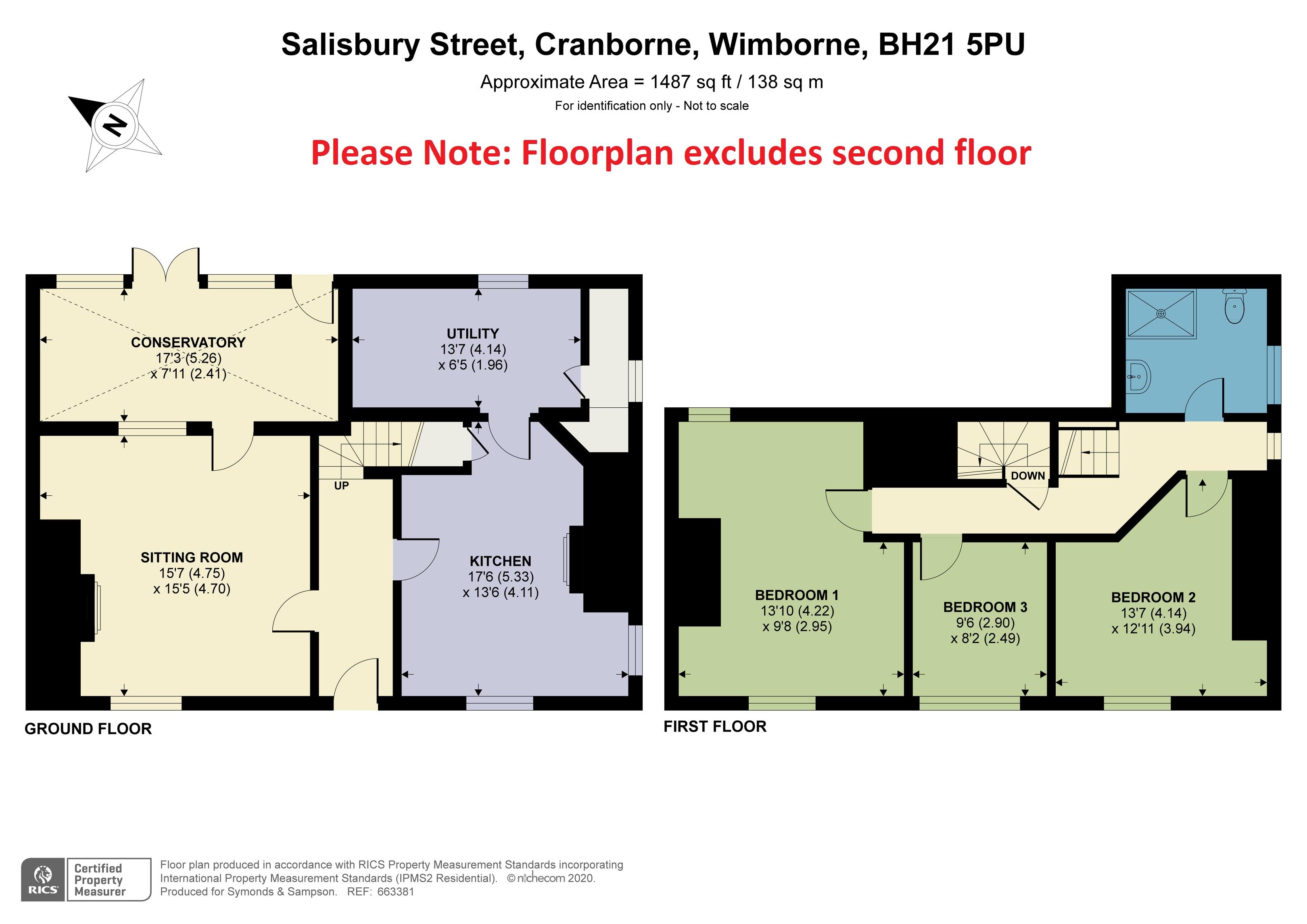Floorplan - Salisbury Street, Cranborne, Wimborne, BH21 5PU