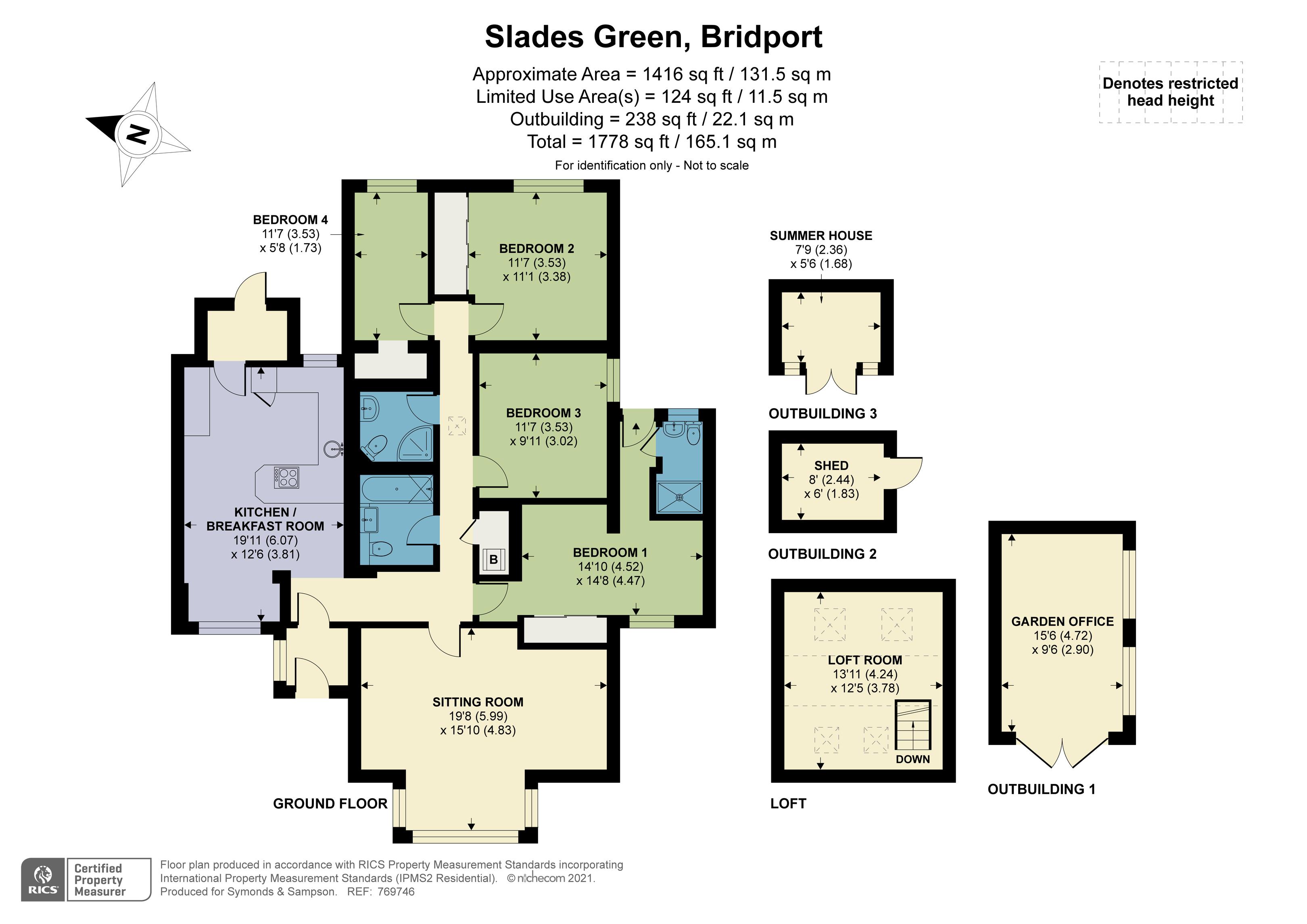Floorplan - Slades Green, Bridport, DT6 4EA