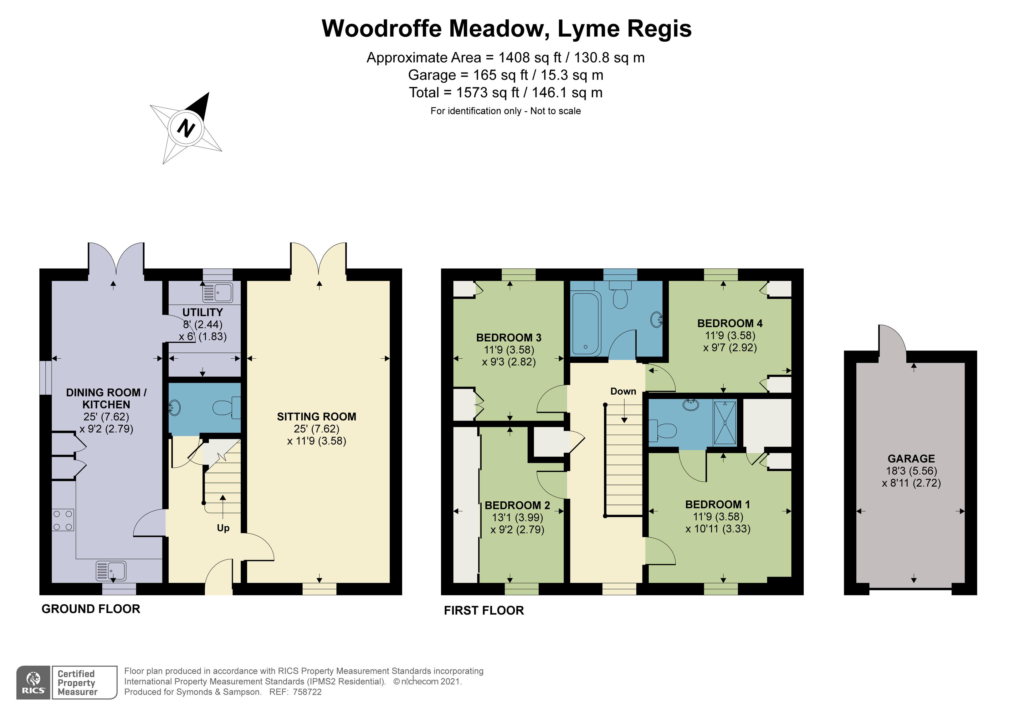 Floorplan - Woodroffe Meadow, Lyme Regis, DT7 3NX