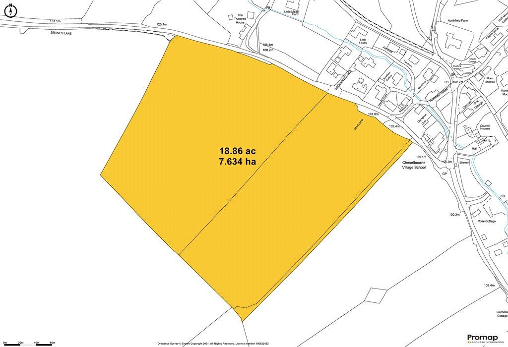 Siteplan - Cheselbourne, Dorchester, DT2 7NT