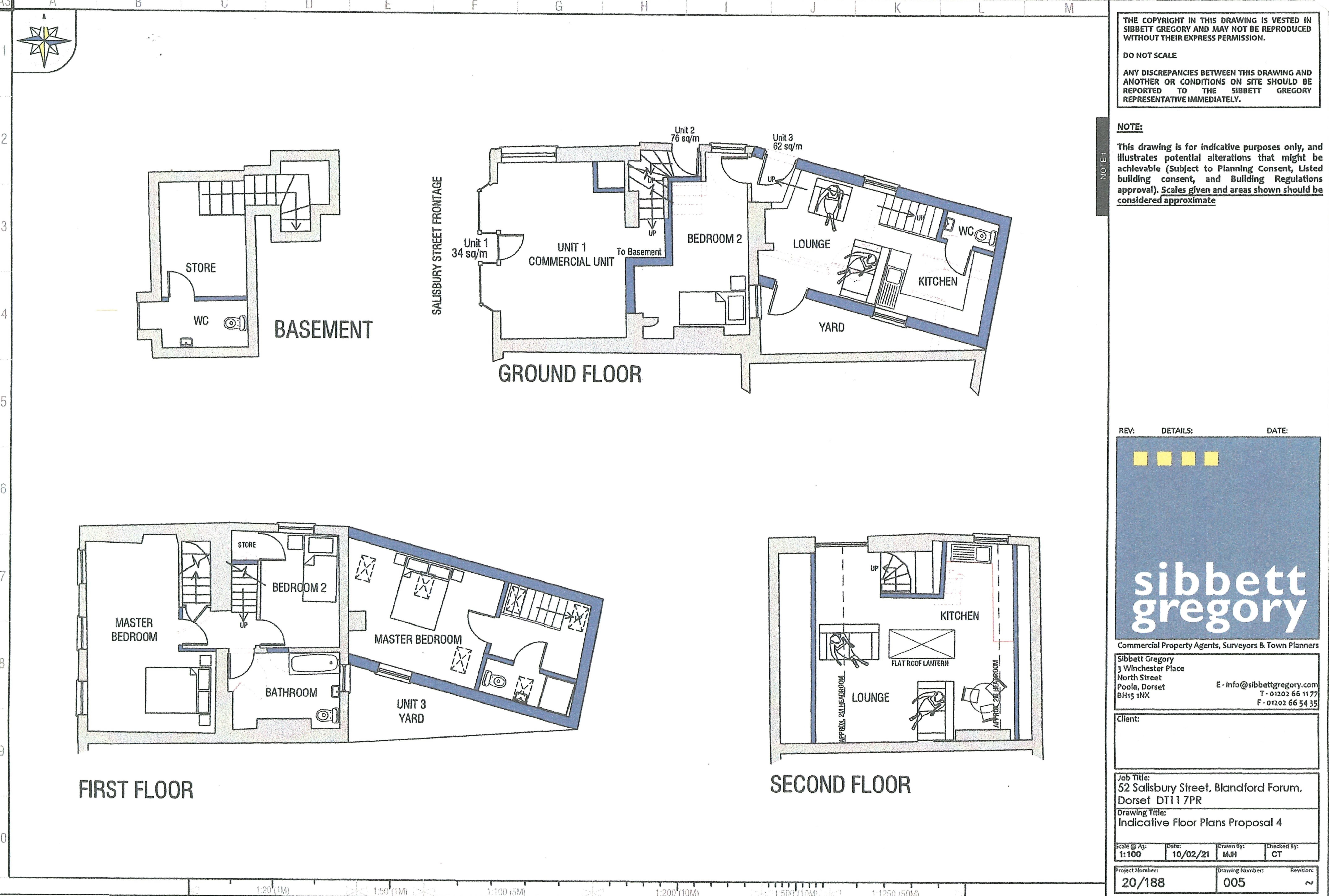 Floorplan - Salisbury Street, Blandford Forum, Dorset, DT11 7PR
