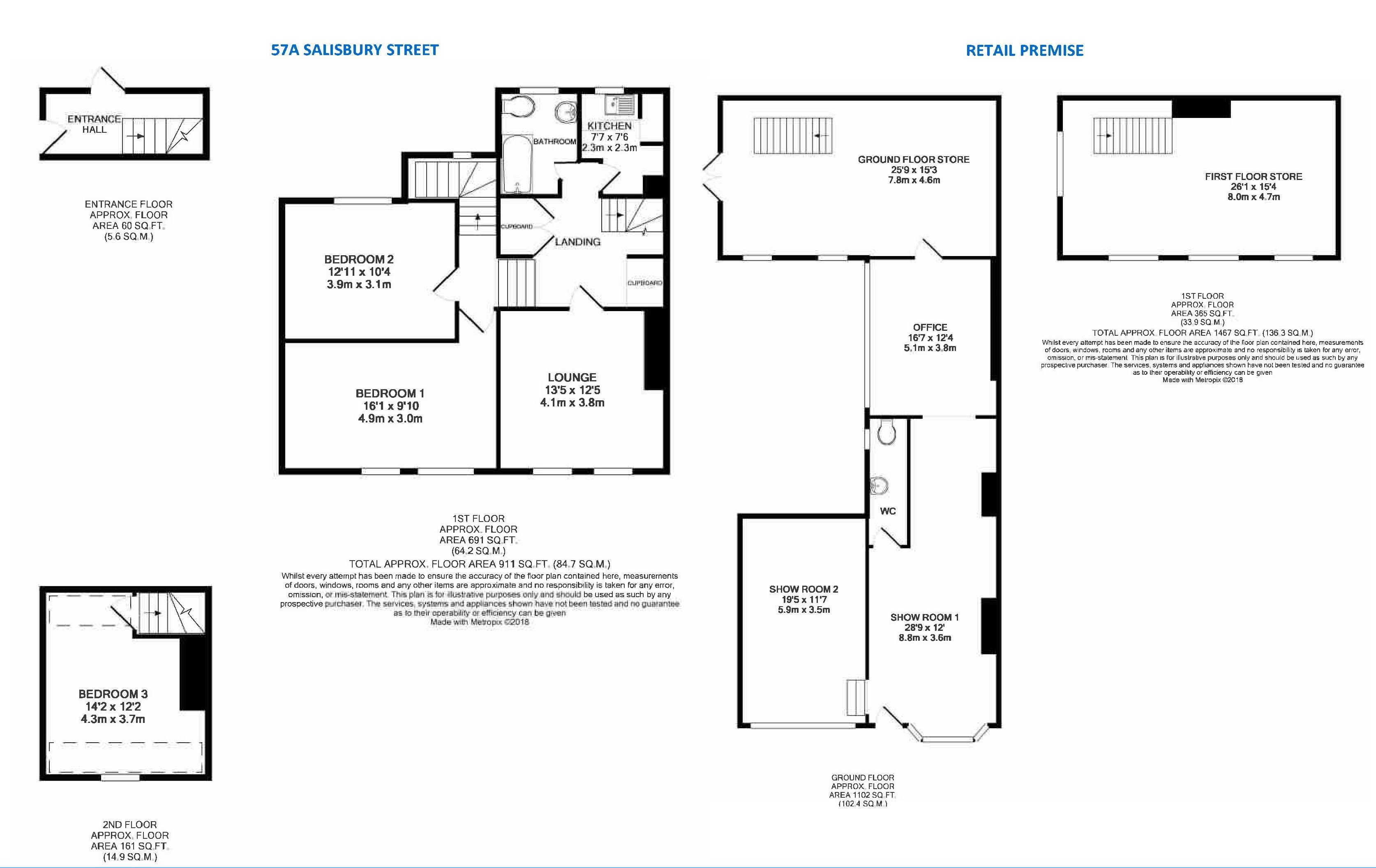 Floorplan - Salisbury Street, Blandford Forum, DT11 7PX