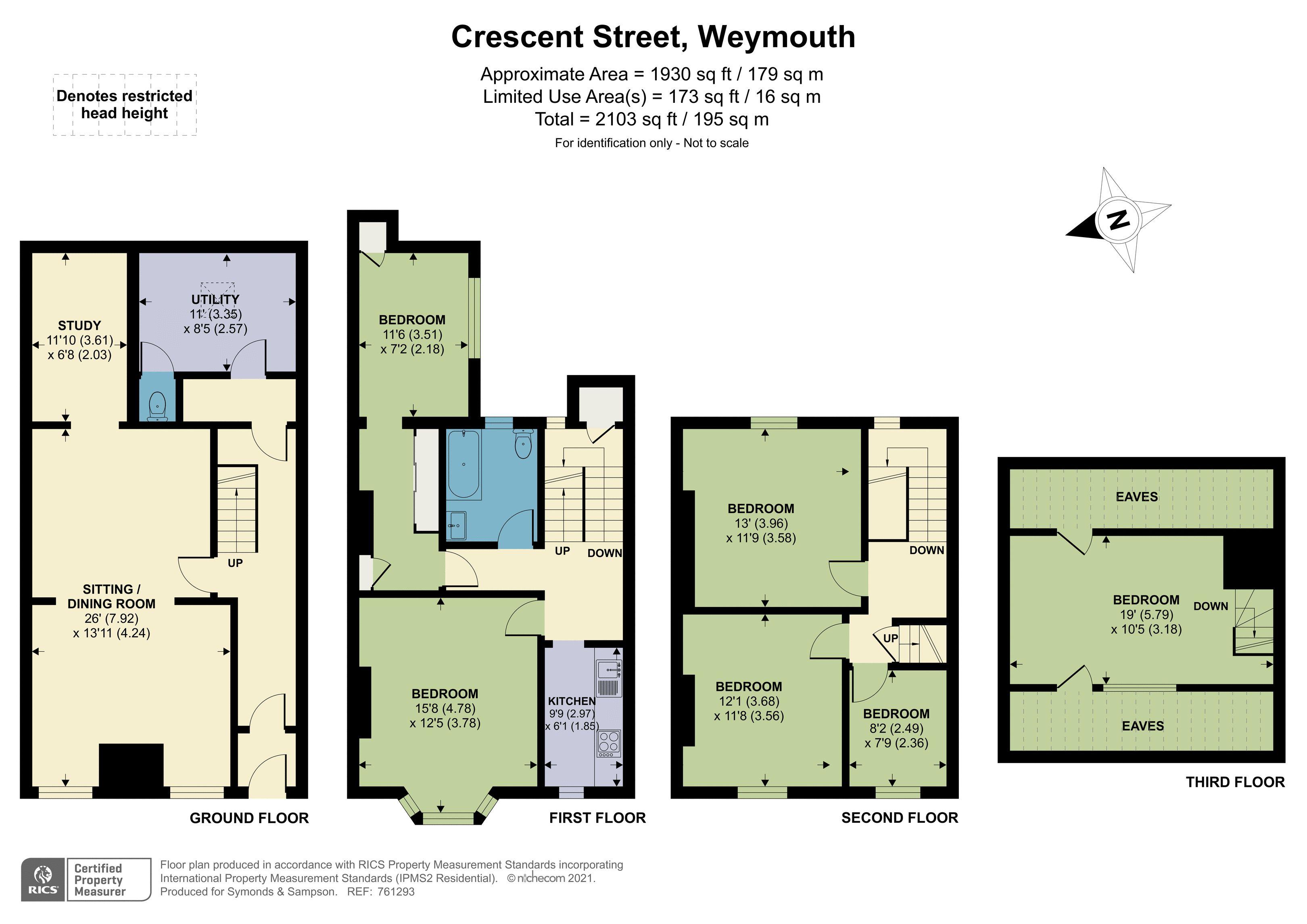 Floorplan - Crescent Street, Weymouth, Dorset, DT4 7BX