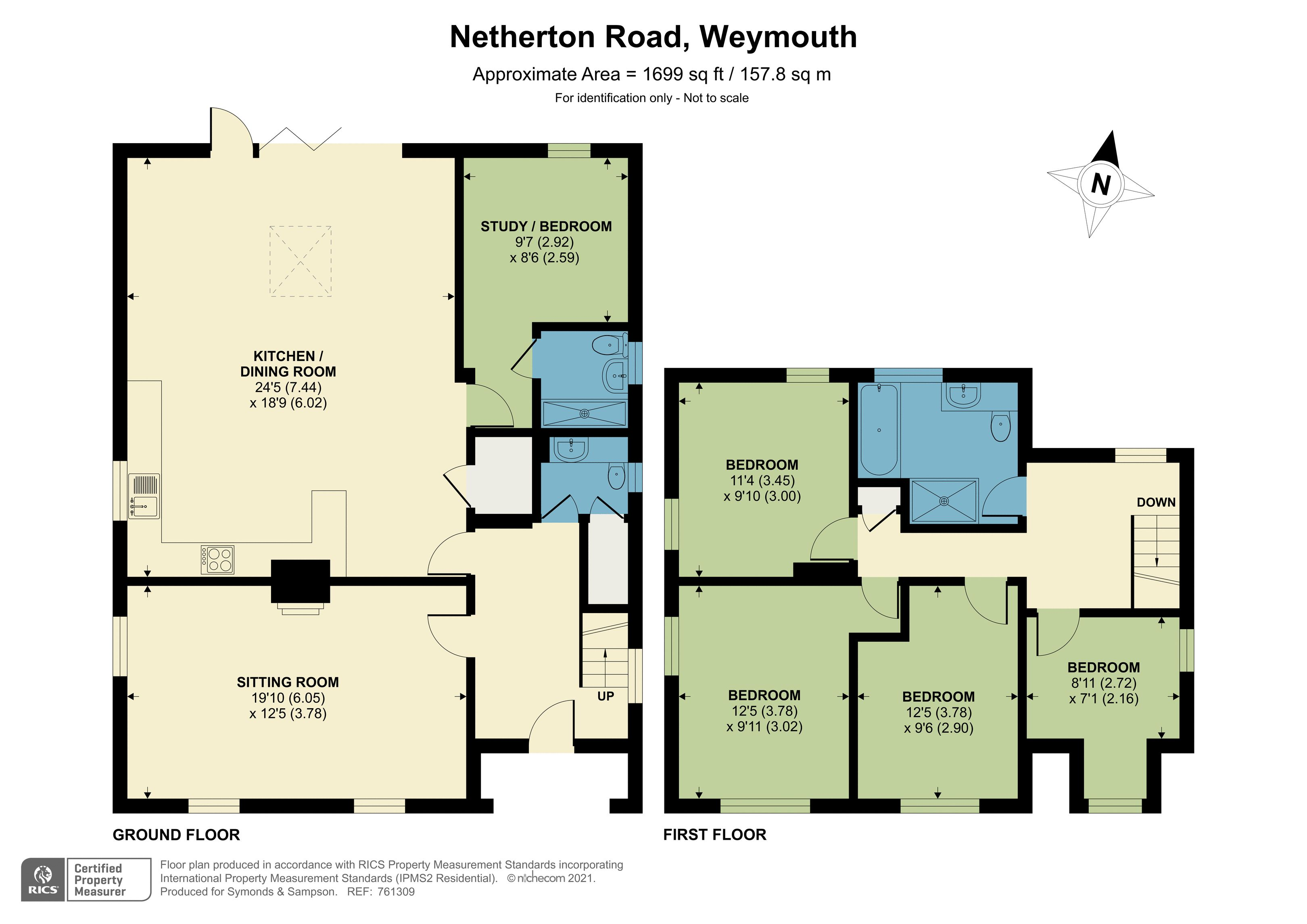 Floorplan - Netherton Road, Weymouth, Dorset, DT4 8SB