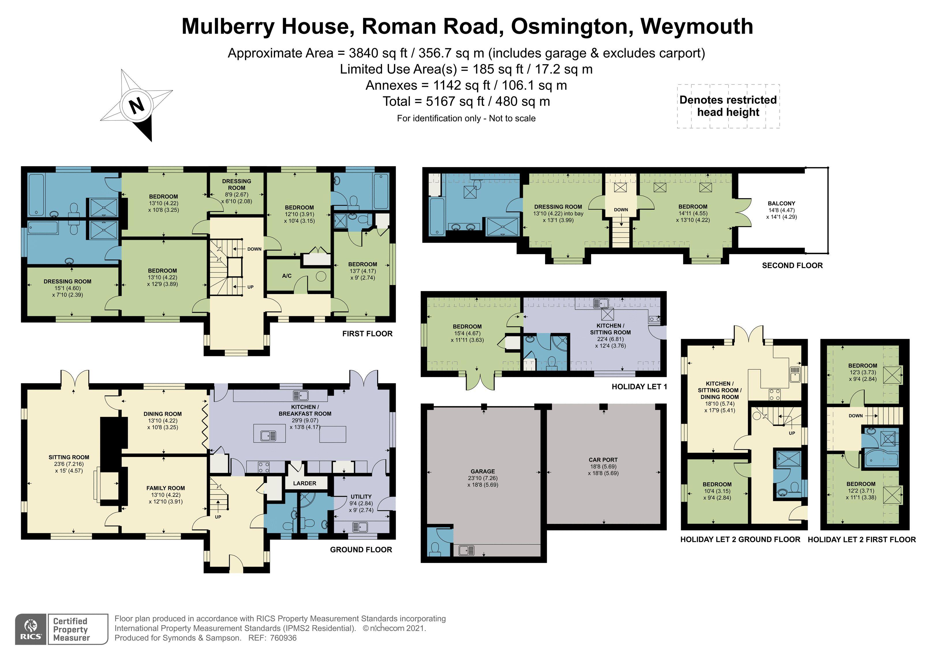 Floorplan - Roman Road, Osmington, Weymouth, Dorset, DT3 6ER
