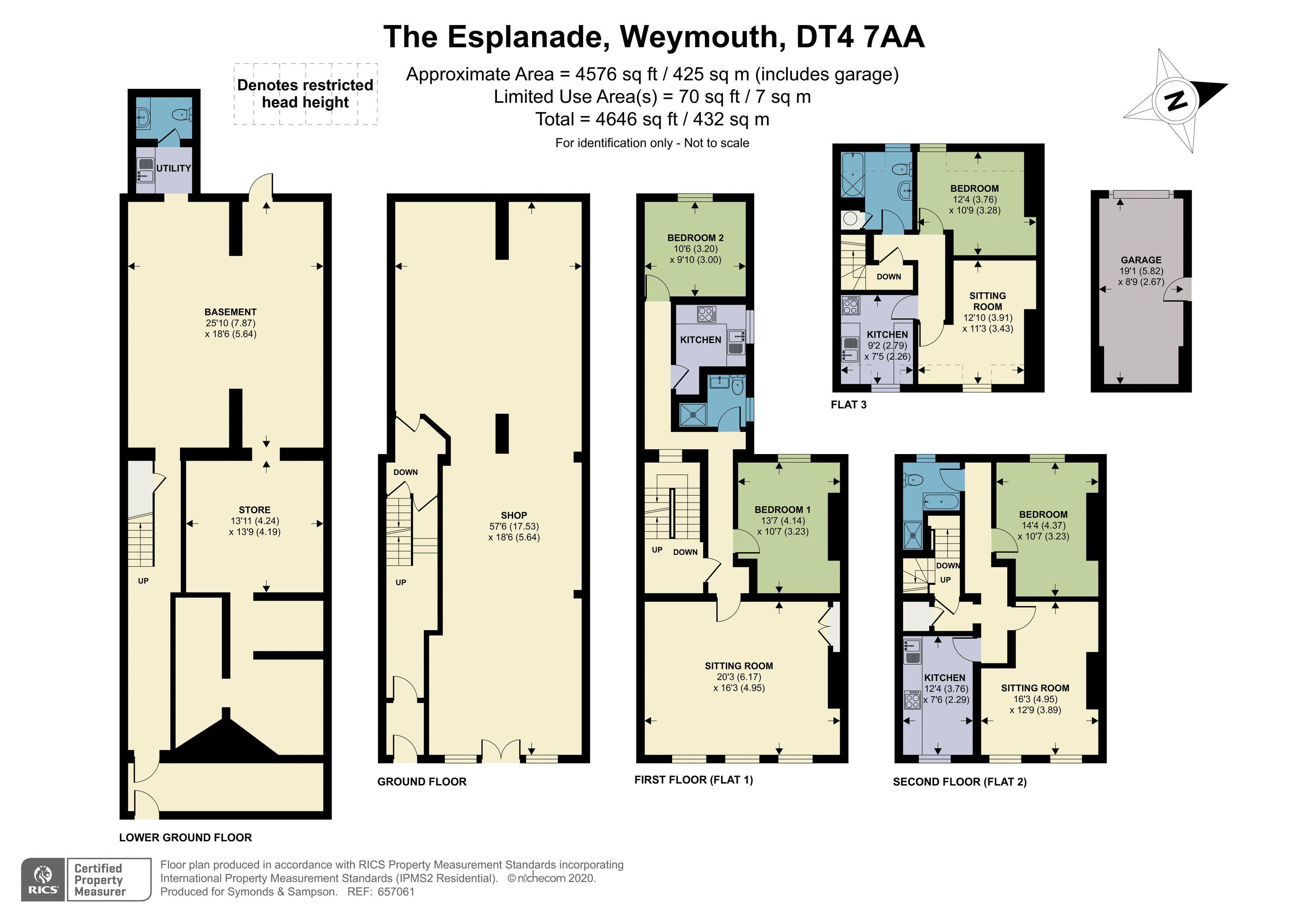 Floorplan - The Esplanade, Weymouth, Dorset, DT4 7AA