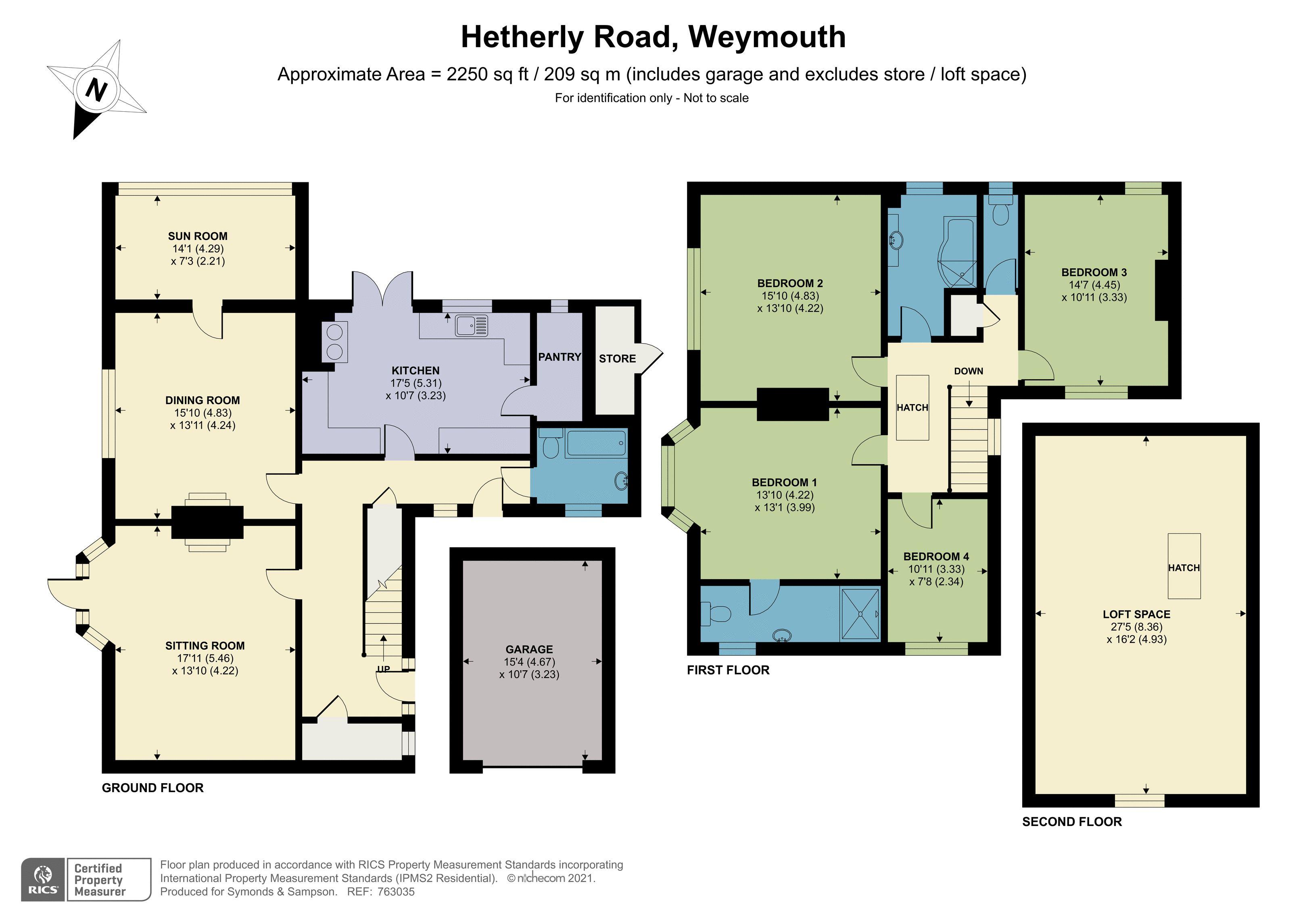 Floorplan - Hetherly Road, Weymouth, Dorset, DT3 5JN