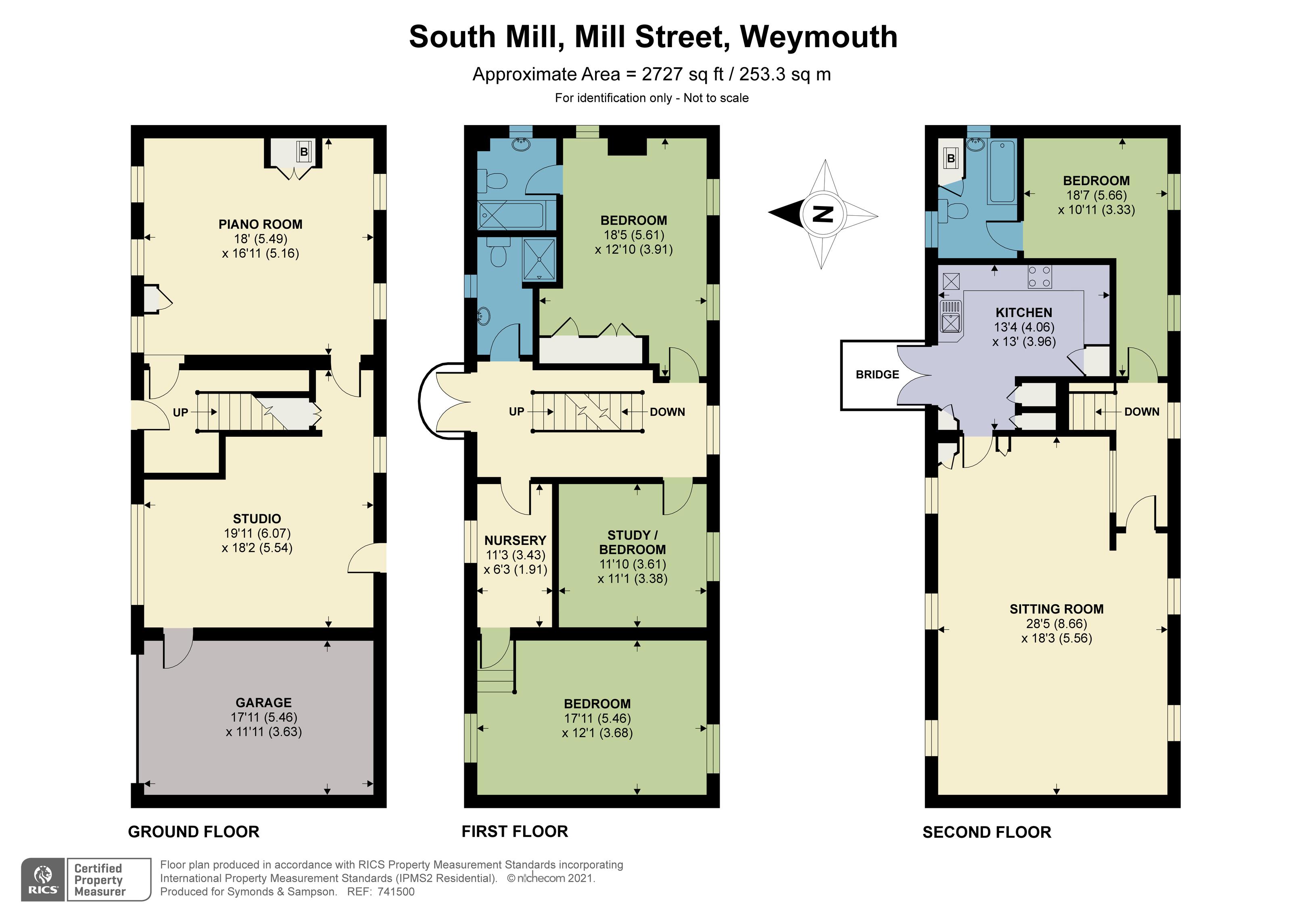 Floorplan - Mill Street, Weymouth, Dorset, DT3 5DN