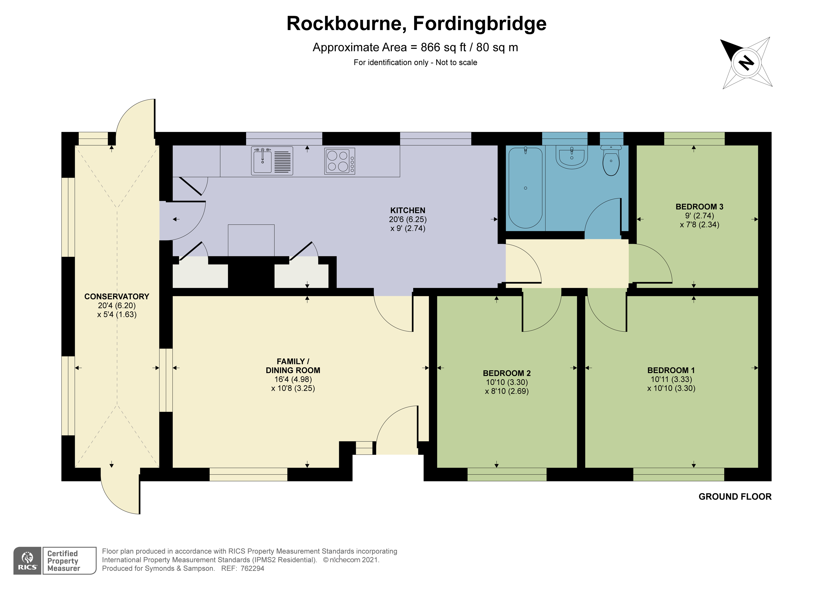 Floorplan - Rockbourne, Fordingbridge, SP6 3NR