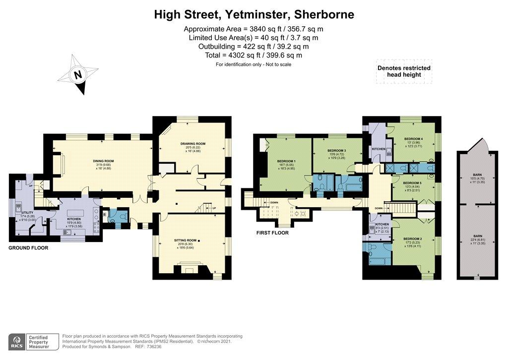Floorplan - High Street, Yetminster, Sherborne, DT9 6LF