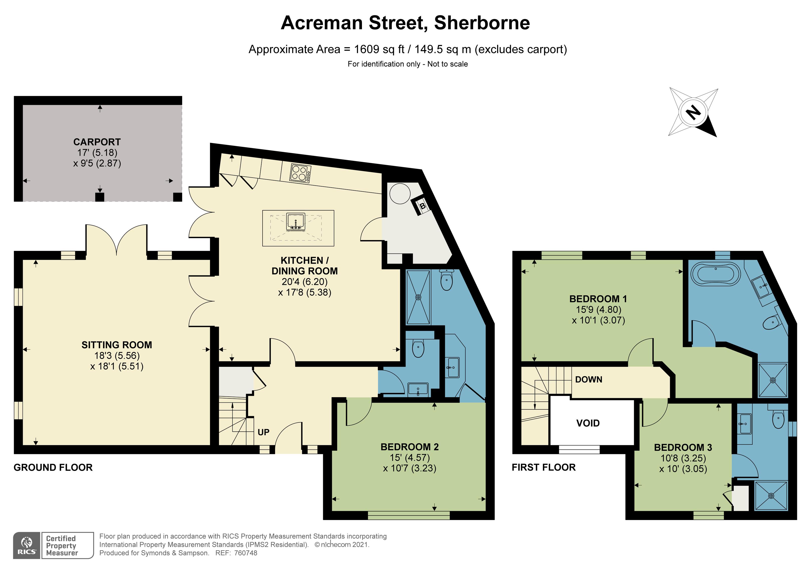 Floorplan - Acreman Street, Sherborne, DT9 3PH