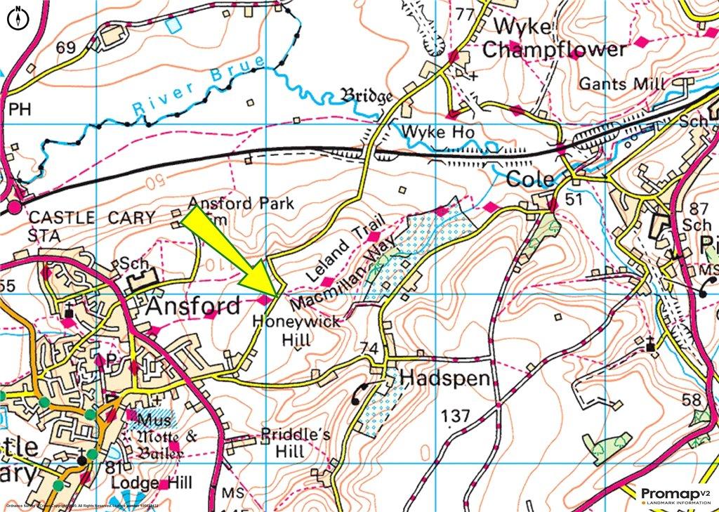 Siteplan - Wyke Road, Castle Cary, Somerset, BA7 7LL