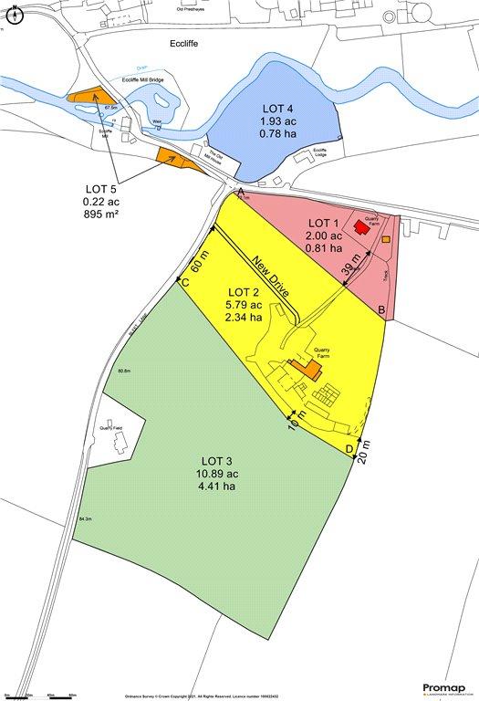 Siteplan - Eccliffe, Gillingham, Dorset, SP8 5RE