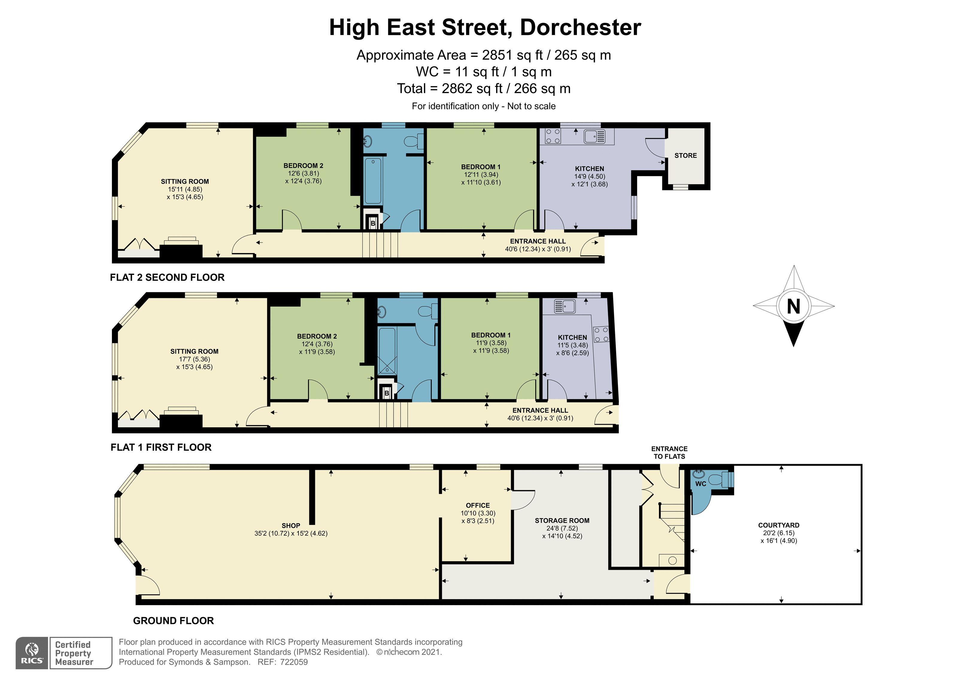 Floorplan - High East Street, Dorchester, Dorset, DT1 1HH