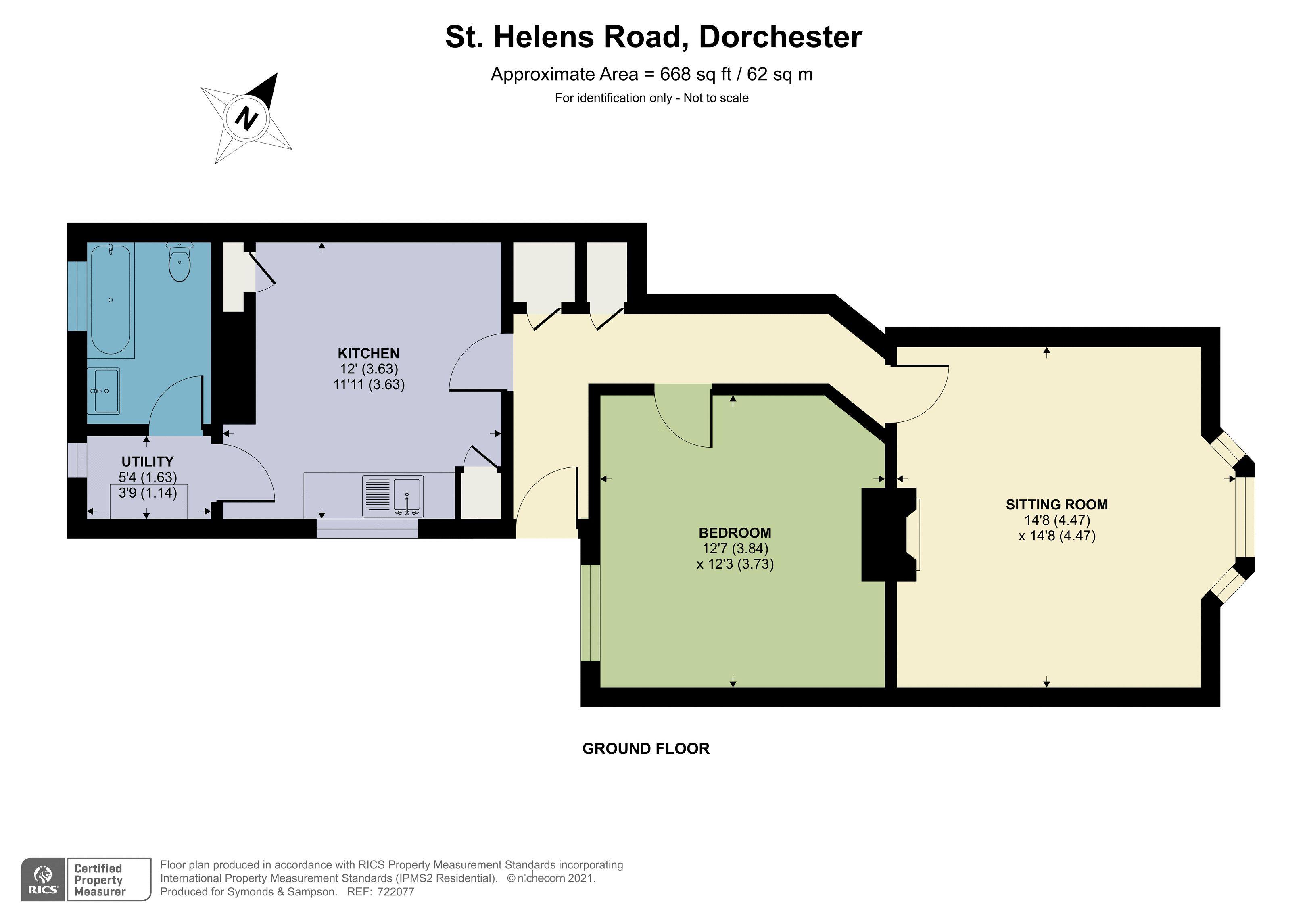 Floorplan - St. Helens Road, Dorchester, Dorset, DT1 1SD