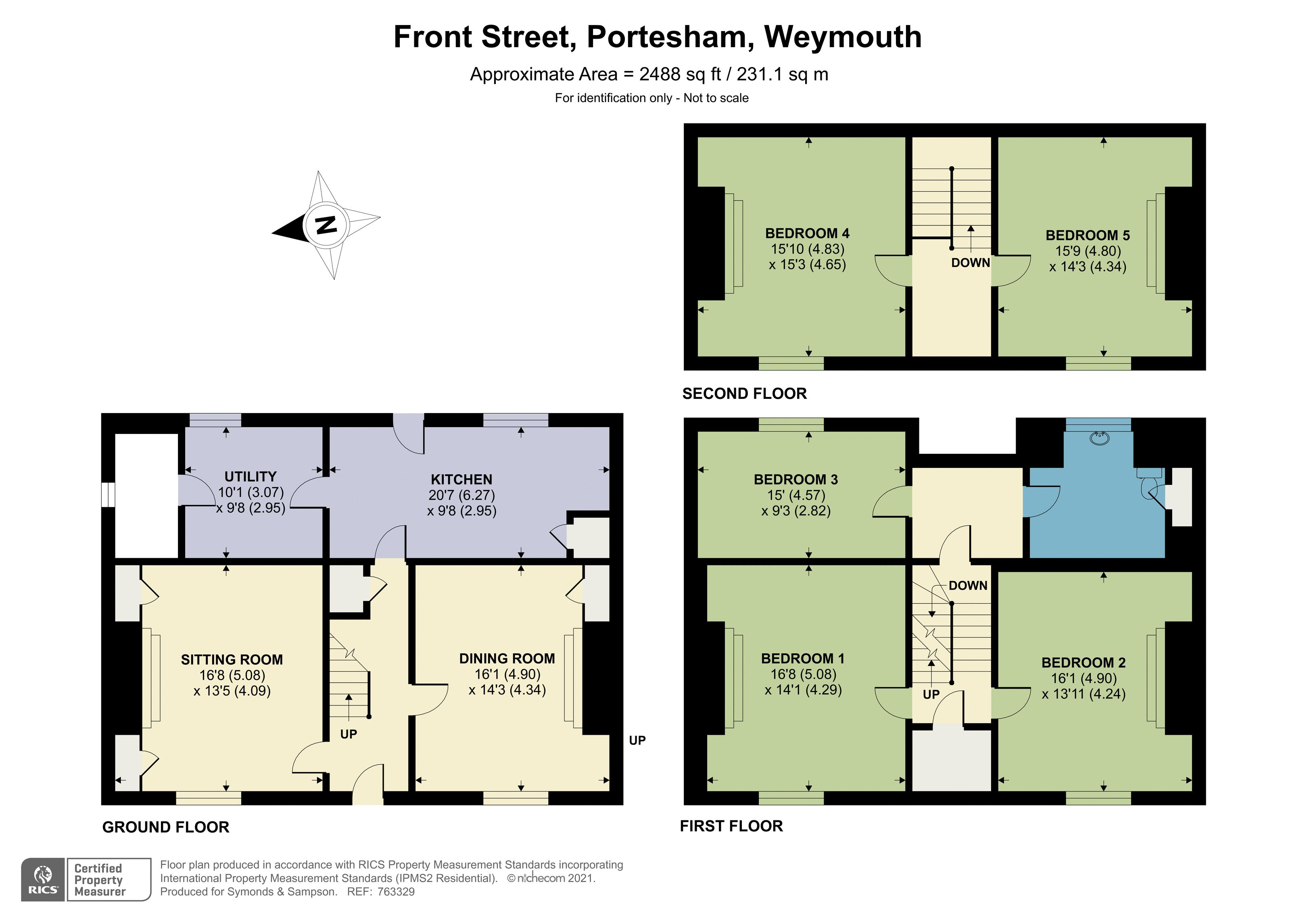 Floorplan - Front Street, Portesham, Weymouth, Dorset, DT3 4ET