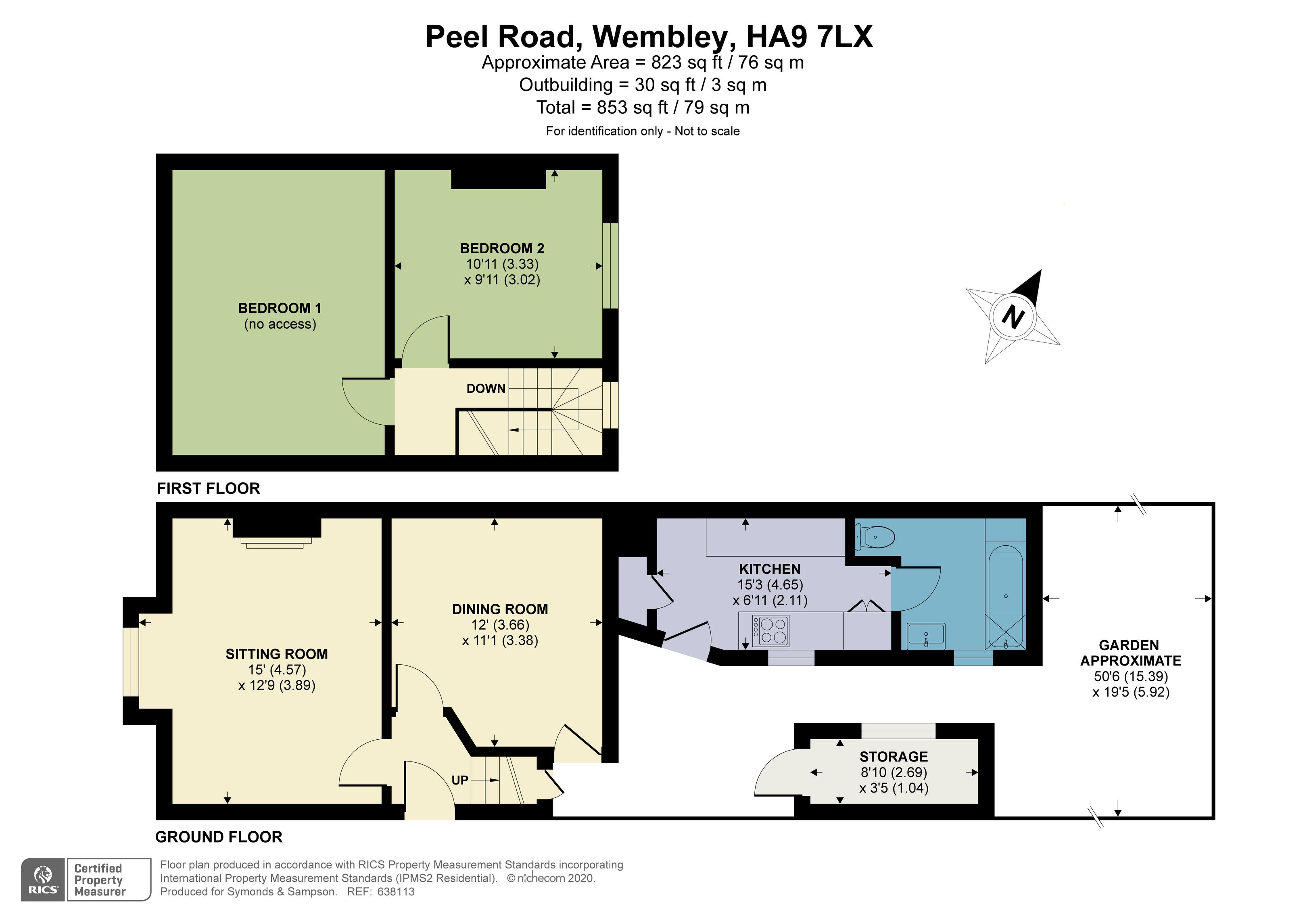 Floorplan - Peel Road, Wembley, HA9 7LX