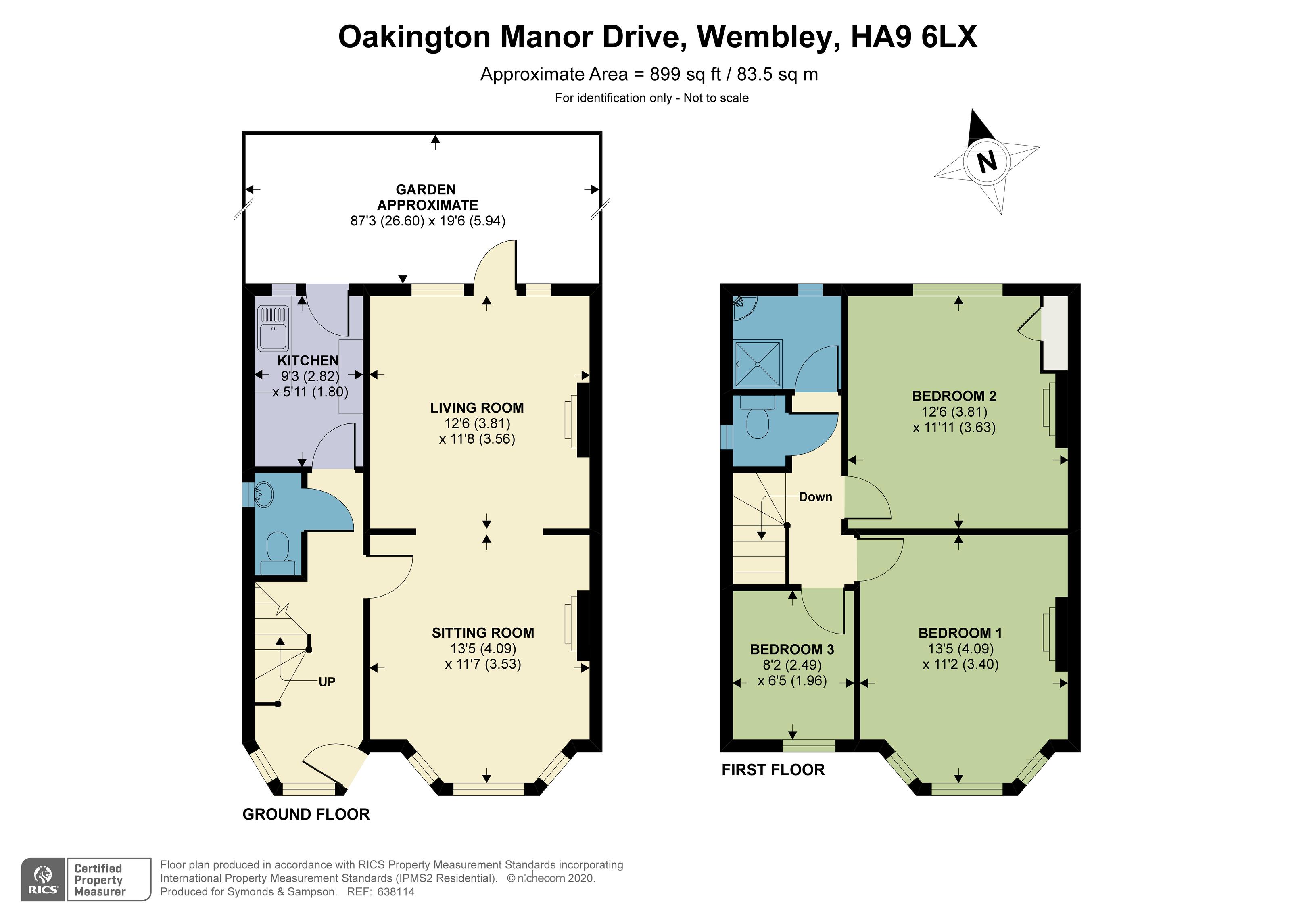 Floorplan - Oakington Manor Drive, Wembley, HA9 6LX