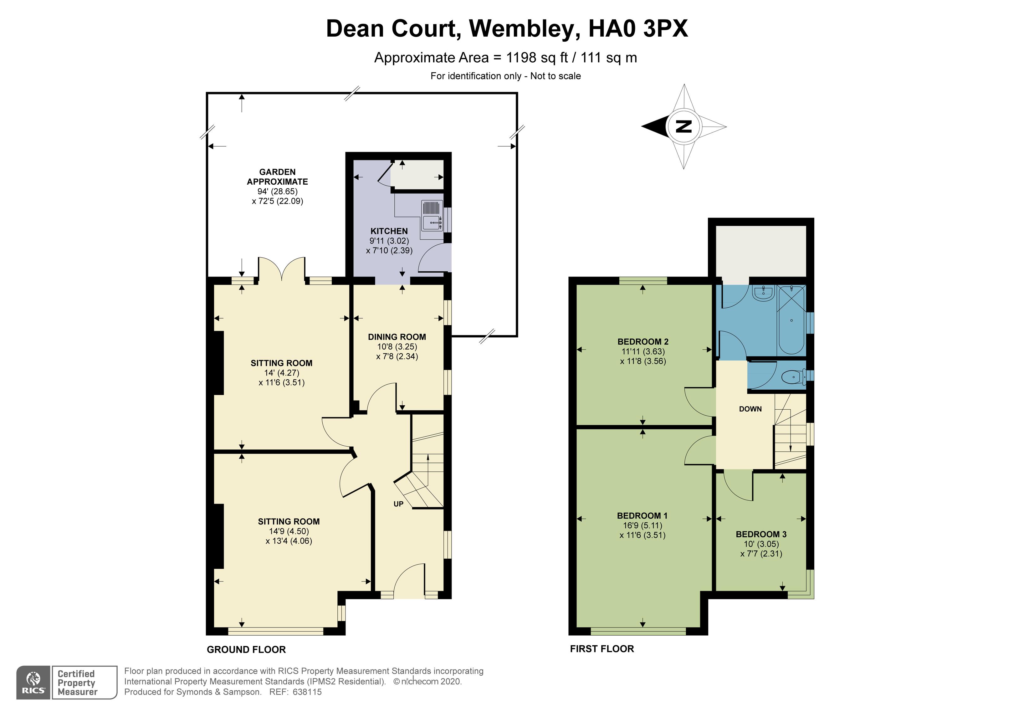 Floorplan - Dean Court, Wembley, HA0 3PX