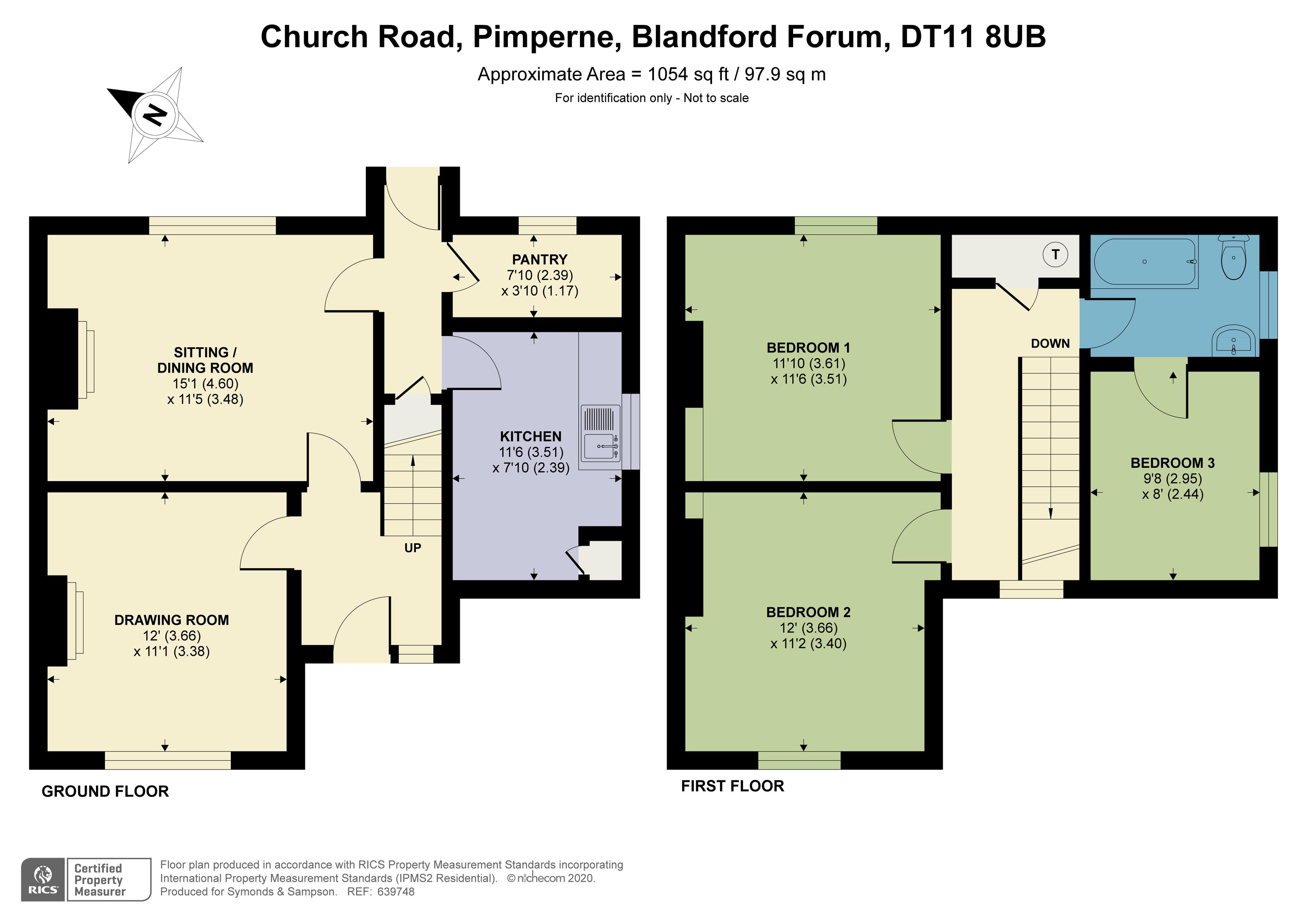 Floorplan - Church Road, Pimperne, Blandford Forum, DT11 8UB
