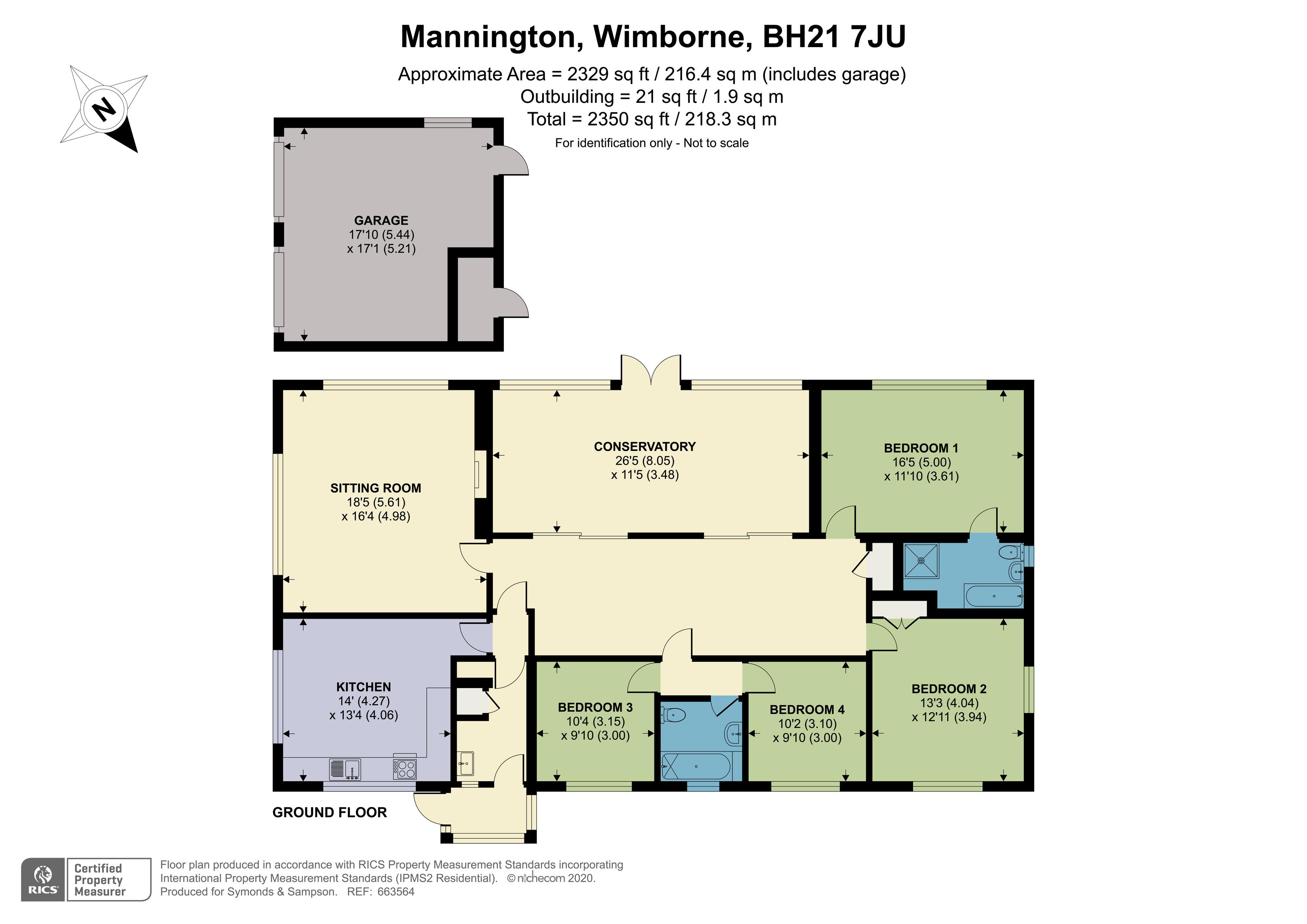 Floorplan - Brooklands Farm, Mannington, Wimborne, BH21 7JU