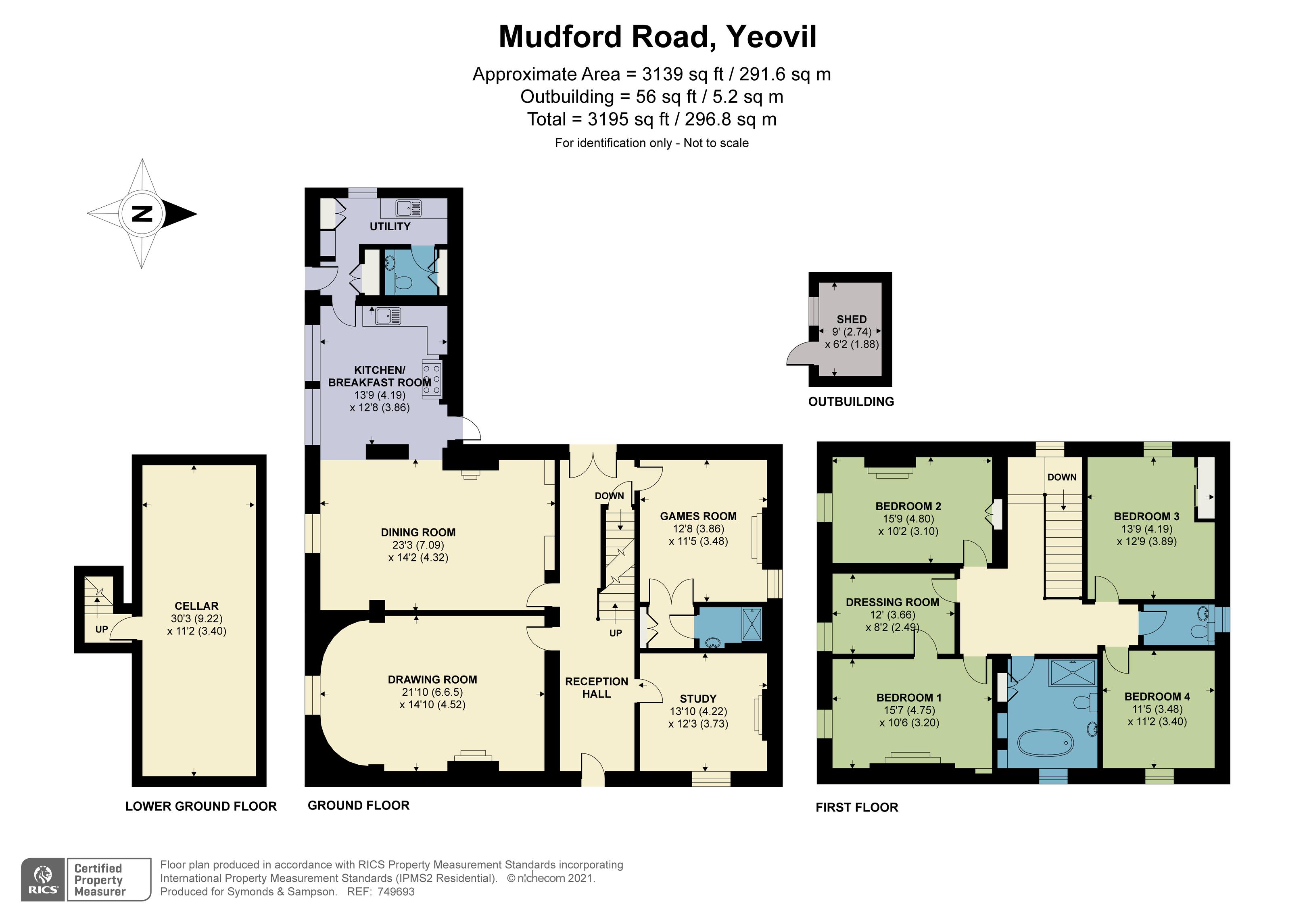 Floorplan - Mudford Road, Yeovil, Somerset, BA21 4AE